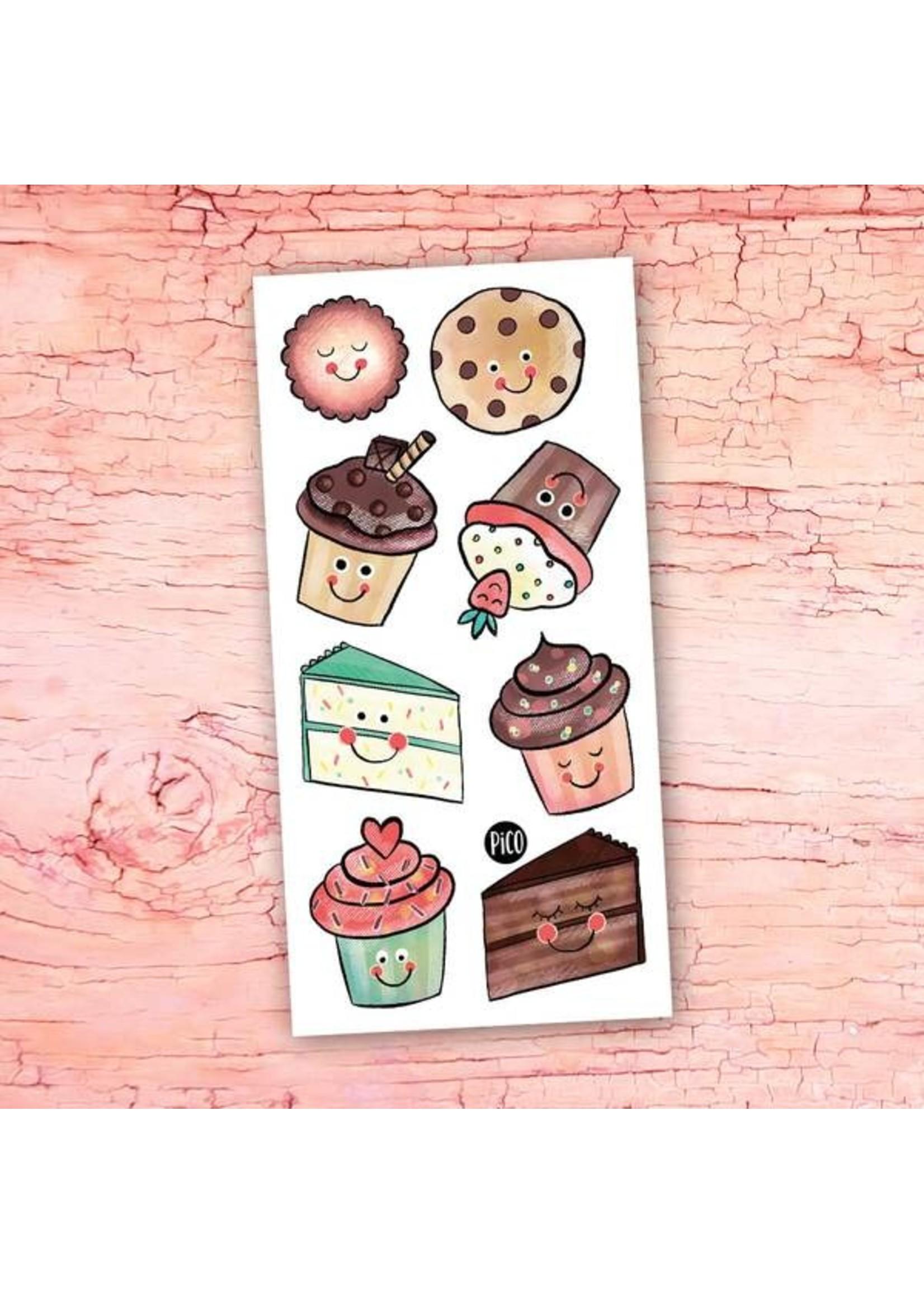 Pico Tatouages temporaires Les petits gâteaux