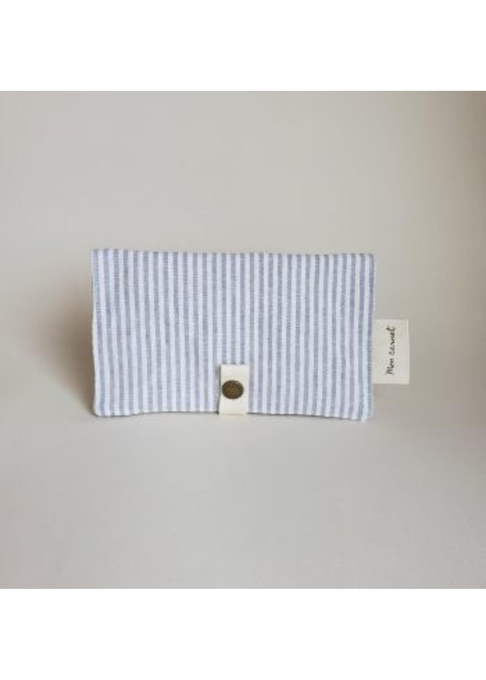 Sauge & co Protège carnet Linen stripes grey
