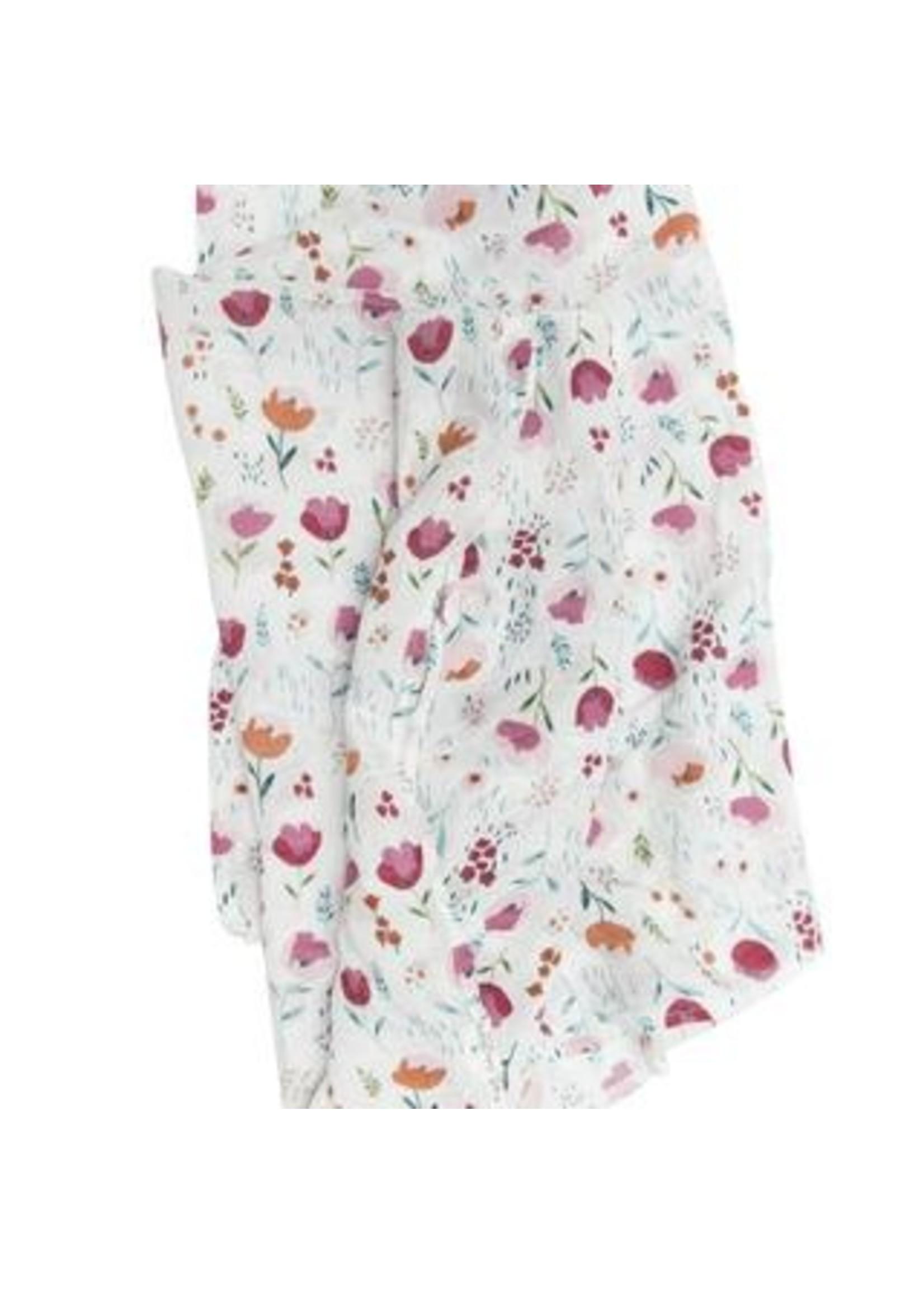 Loulou lollipop Couverture en mousseline Rosey bloom