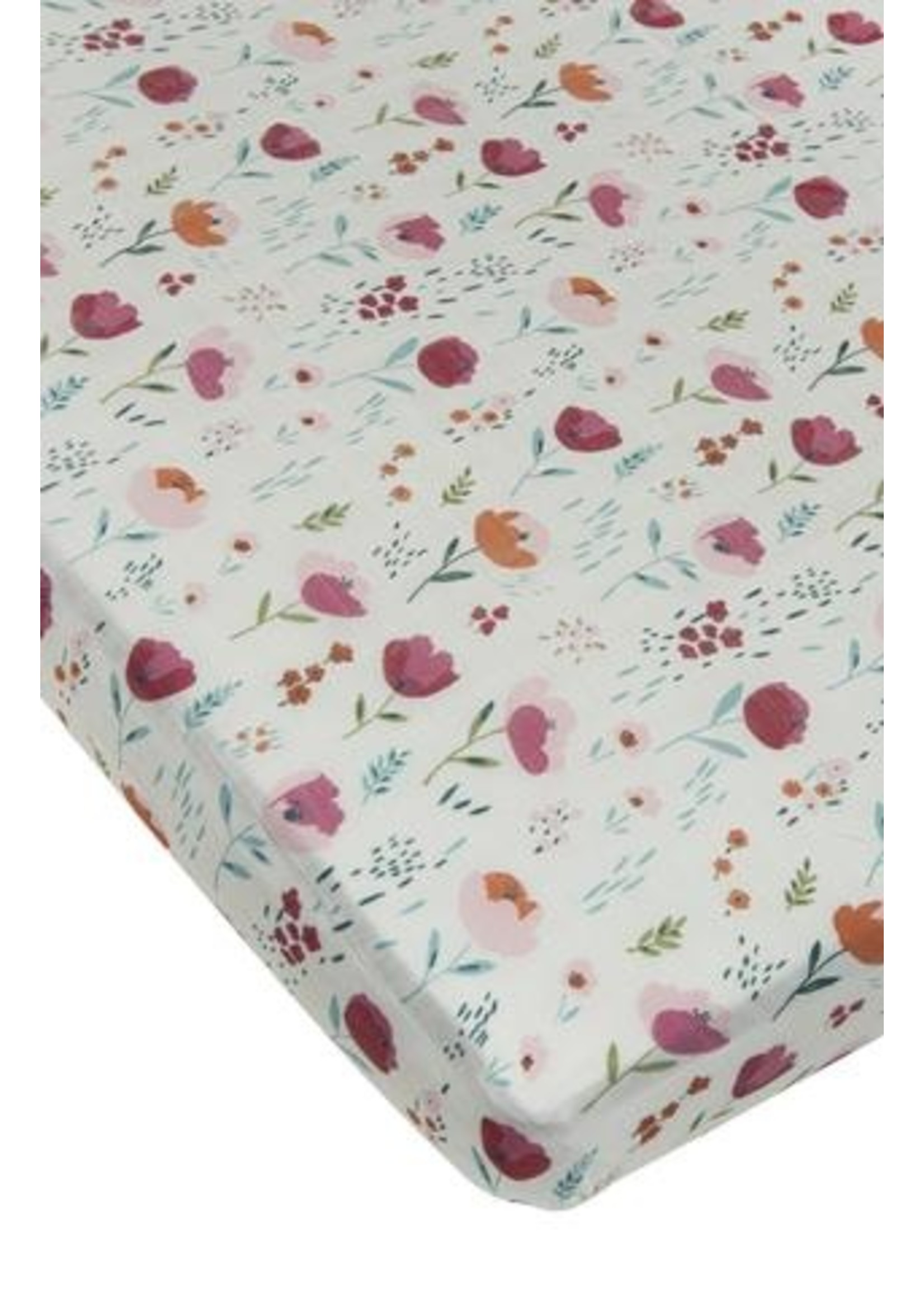 Loulou lollipop Drap contour de bassinette Rosey bloom