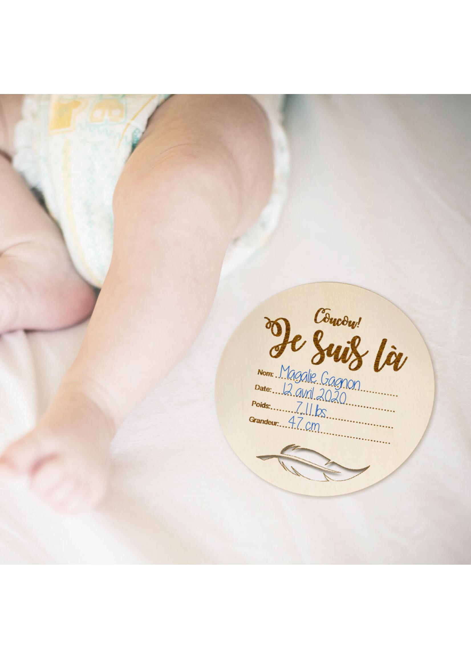 Abricotine Plaquette de naissance