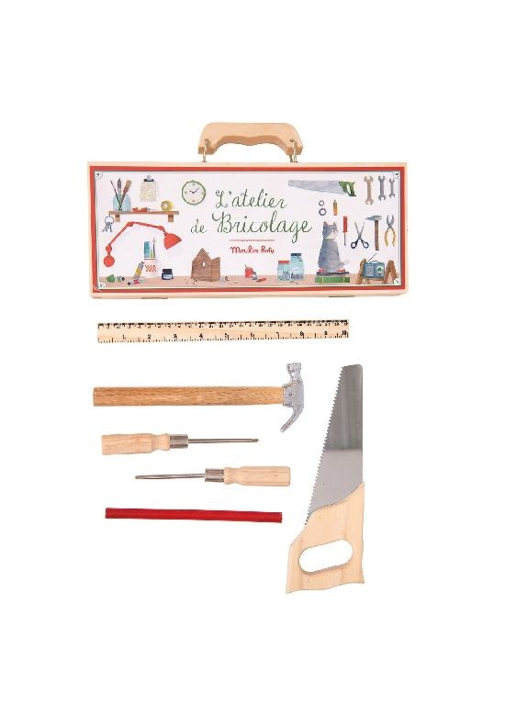 Moulin Roty Ma petite valise d'outils