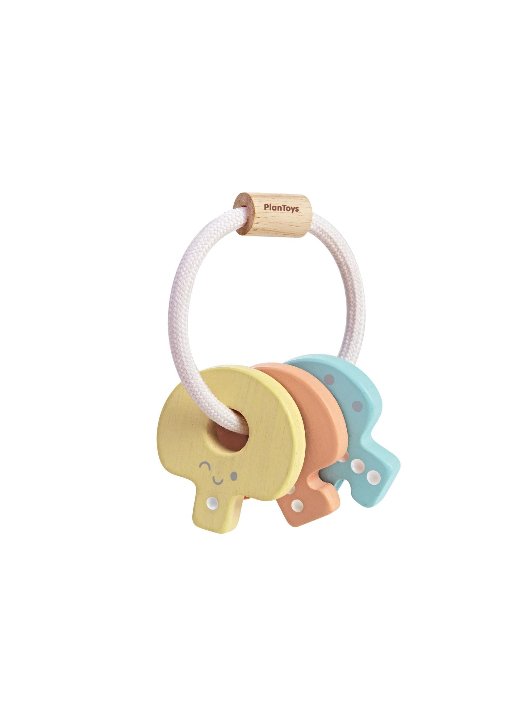 Plan Toys Trousseau de clés hochet Pastel