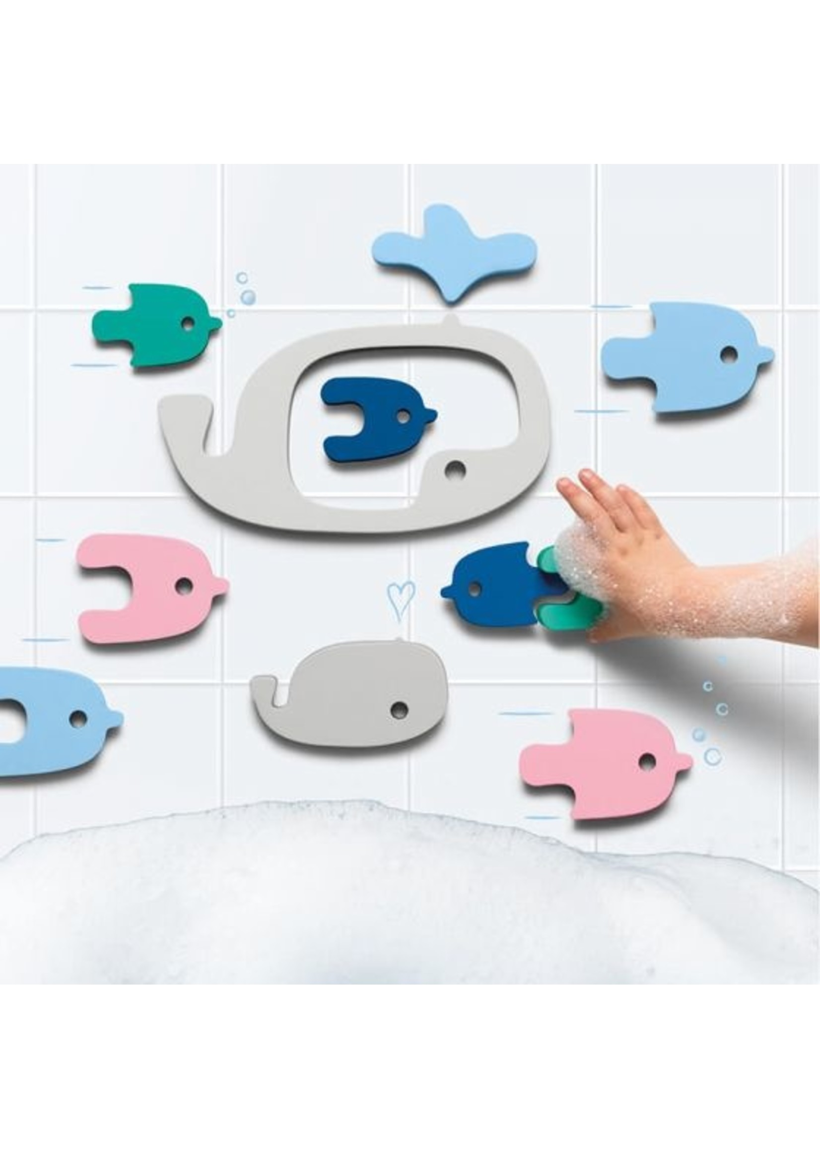 QUUT Casse-tête de bain Baleines
