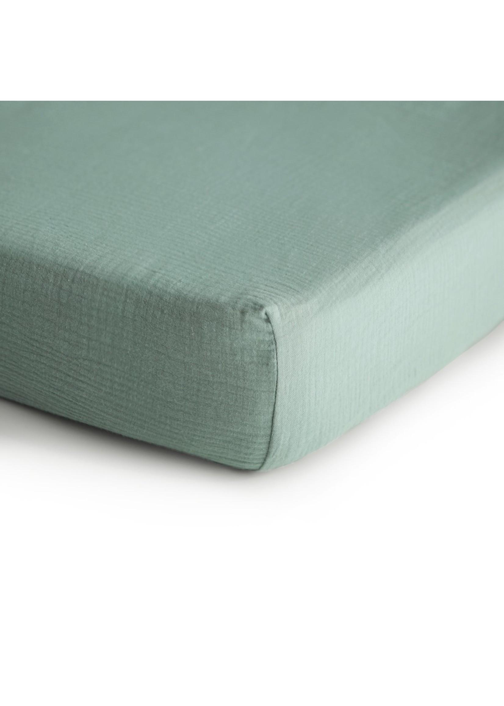 Mushie Drap contour de bassinette Roman Green