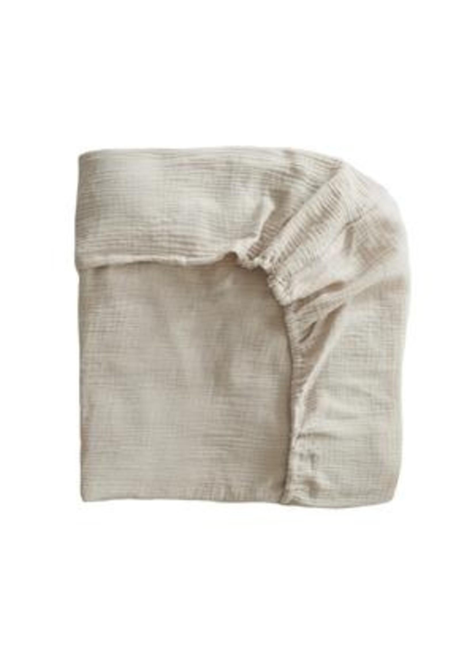 Mushie Drap contour de bassinette Fog