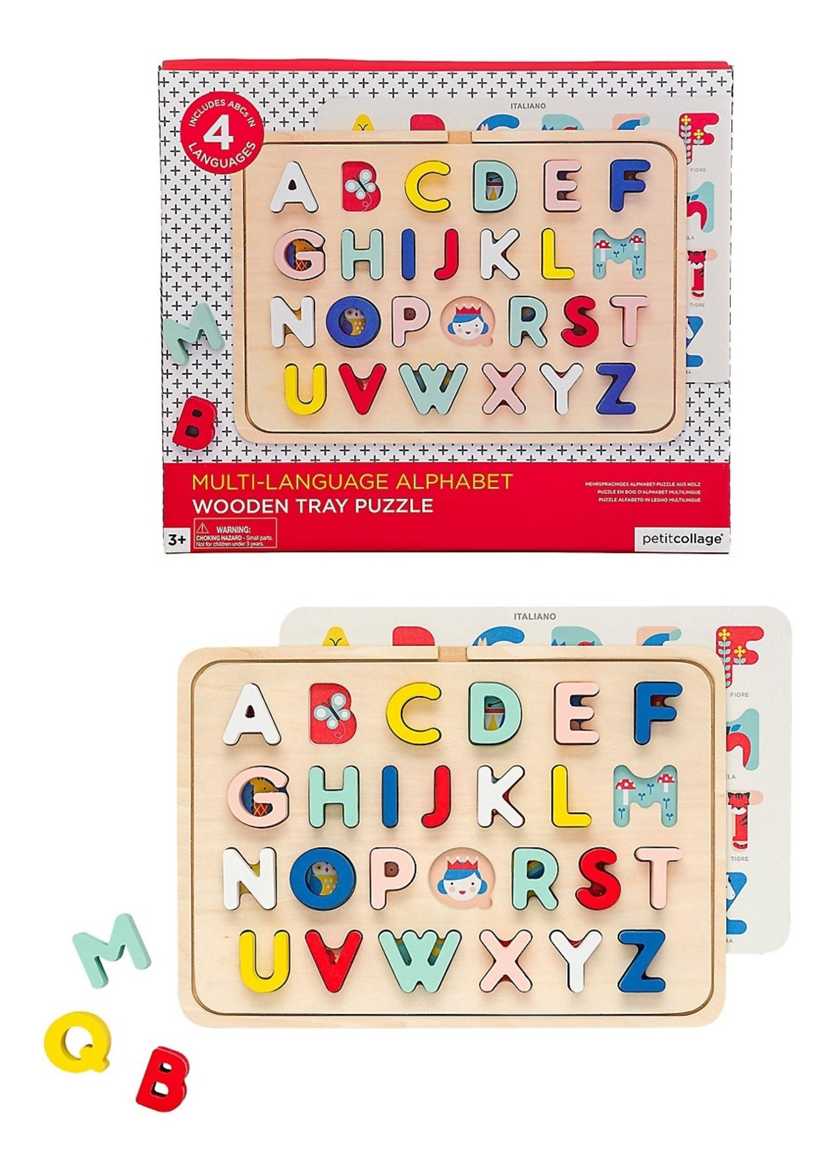 Petit collage Puzzle Alphabet 6 langues
