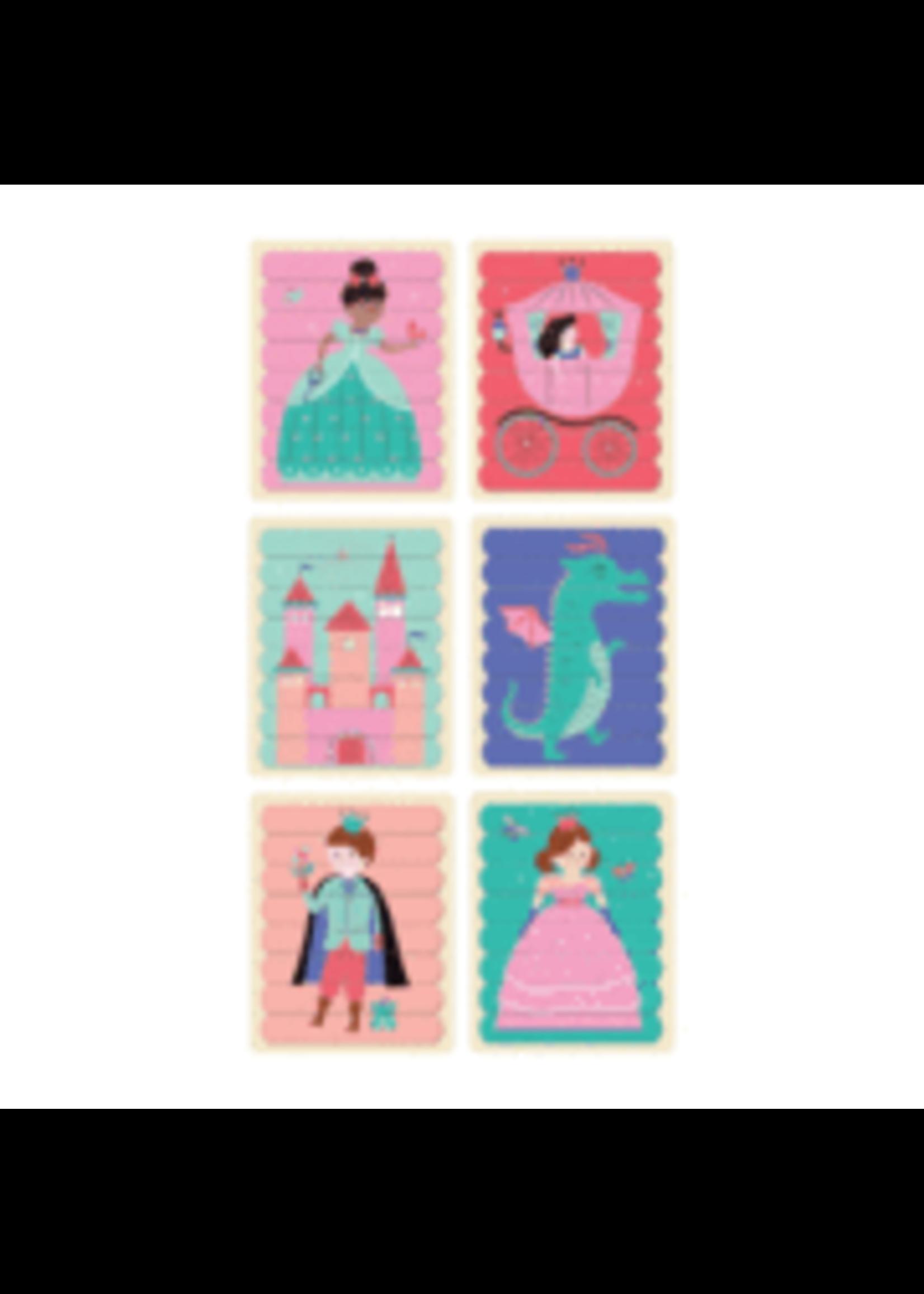 MudPuppy Casse-tête bâtons Princesses enchantées