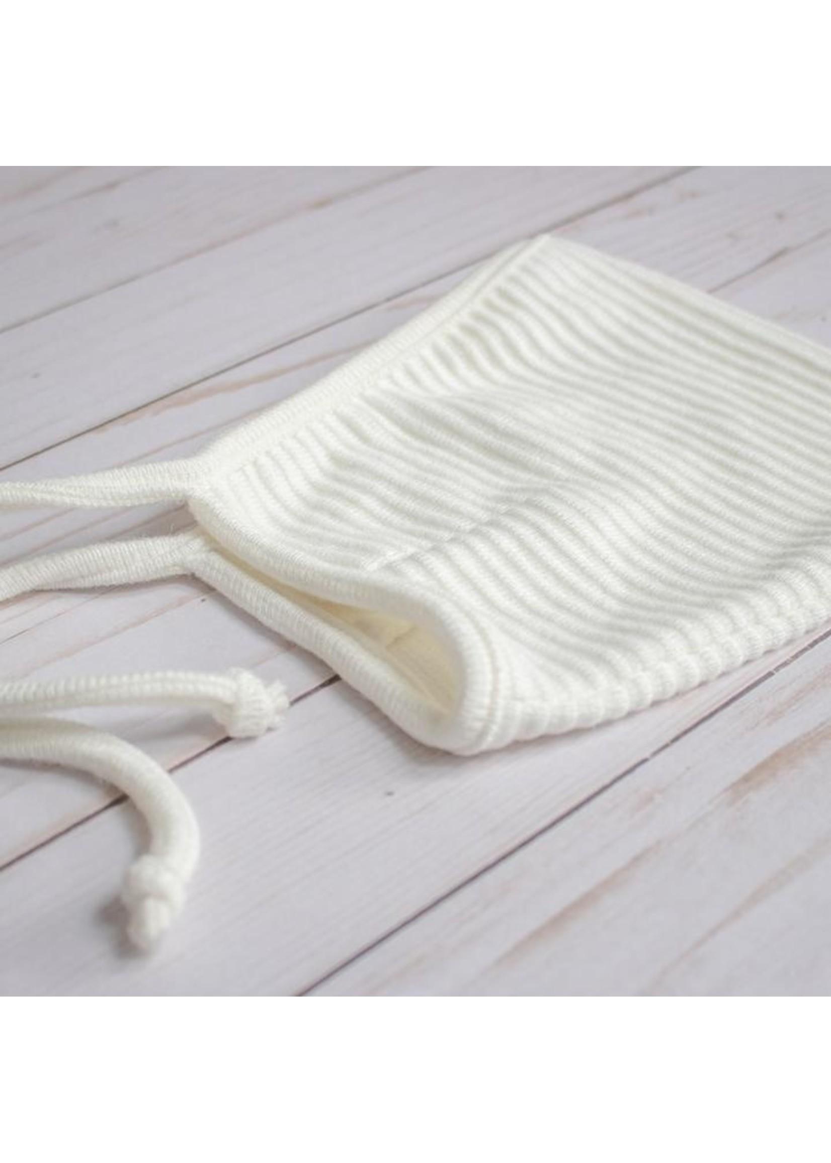 MASE & HATS Bonnet Pixie en tricot côtelé Cream