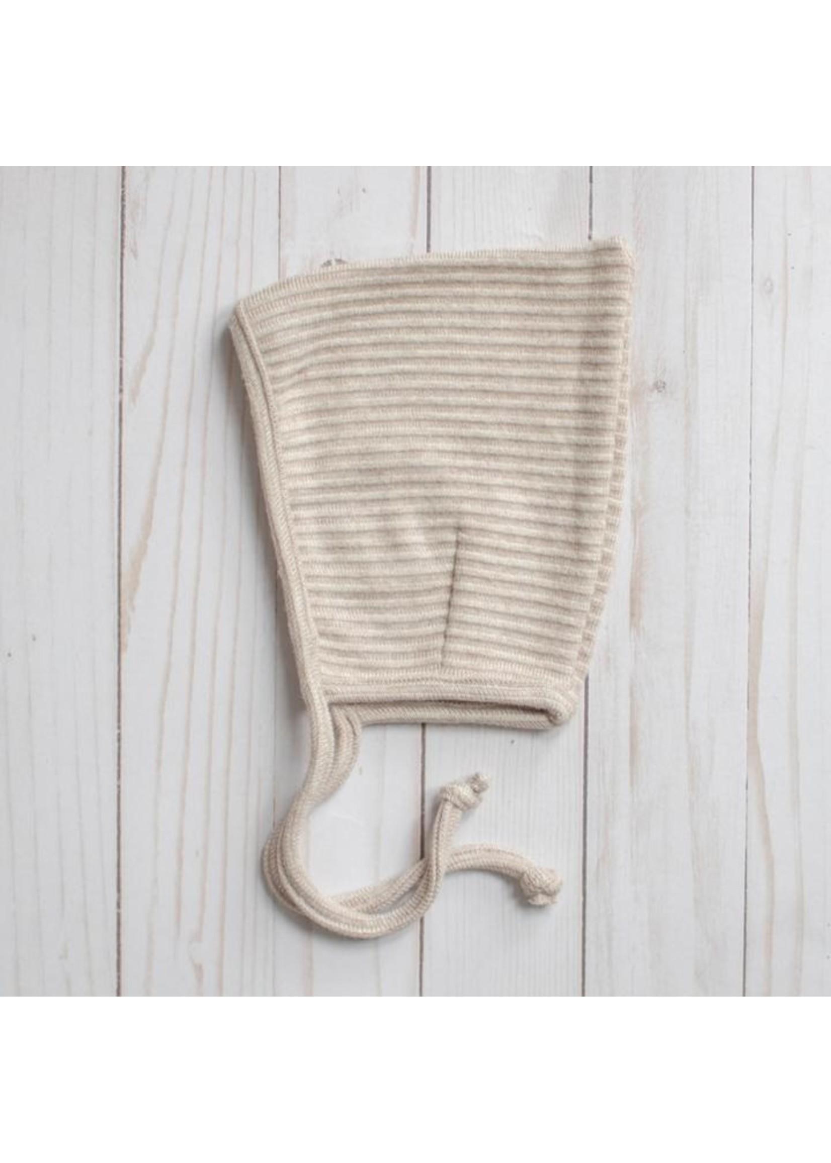 MASE & HATS Bonnet Pixie en tricot côtelé Oat