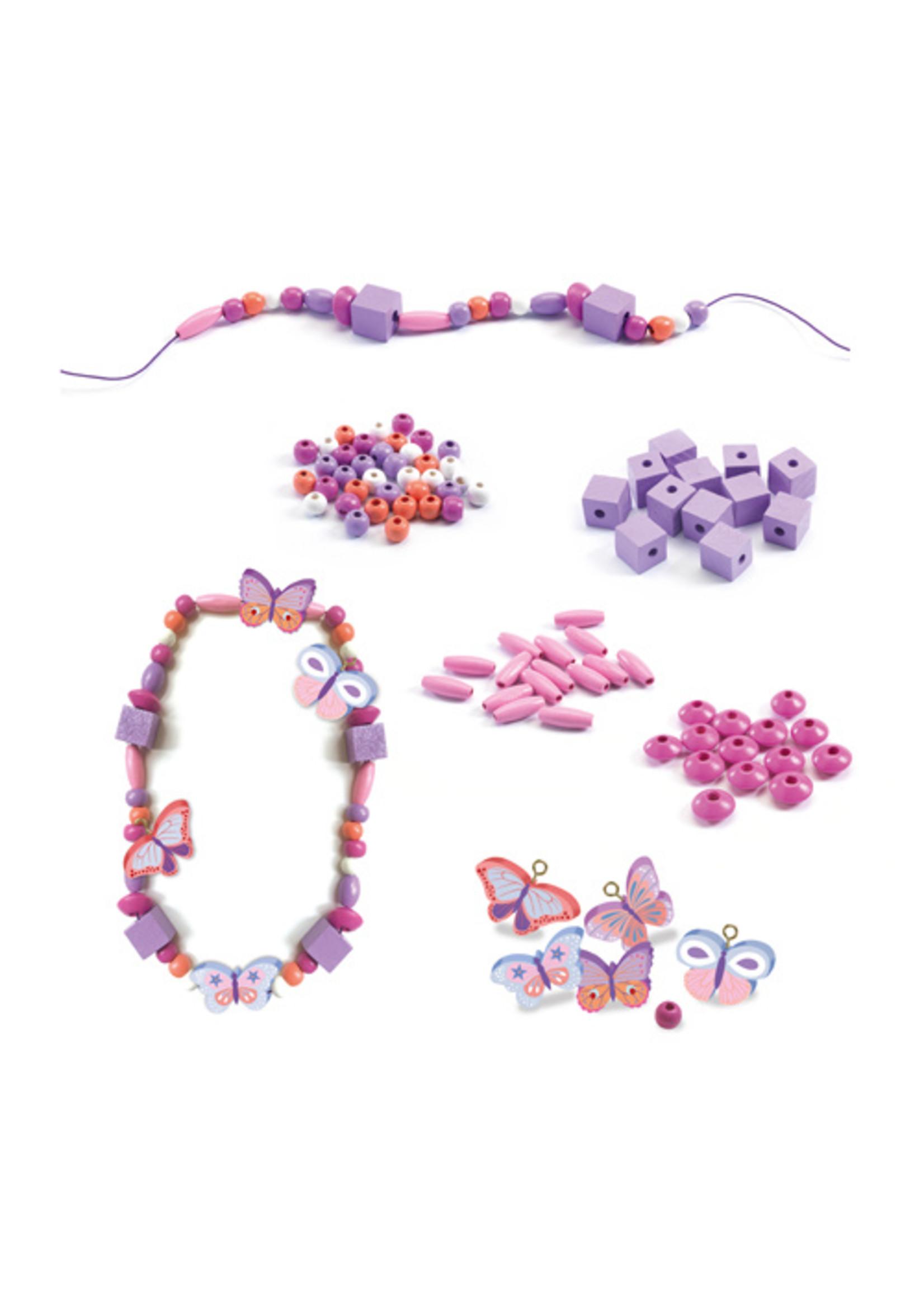 Djeco Perles de bois Papillons