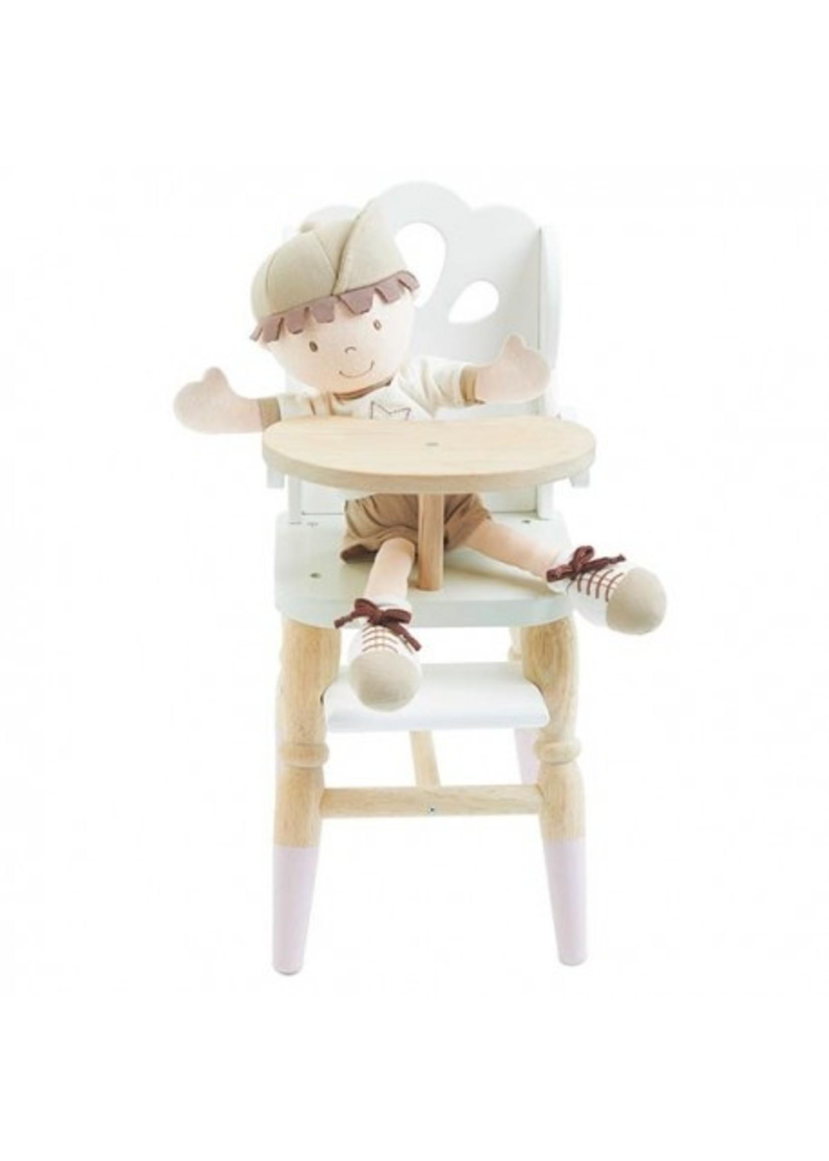 Le Toy Van Chaise haute pour poupée en bois