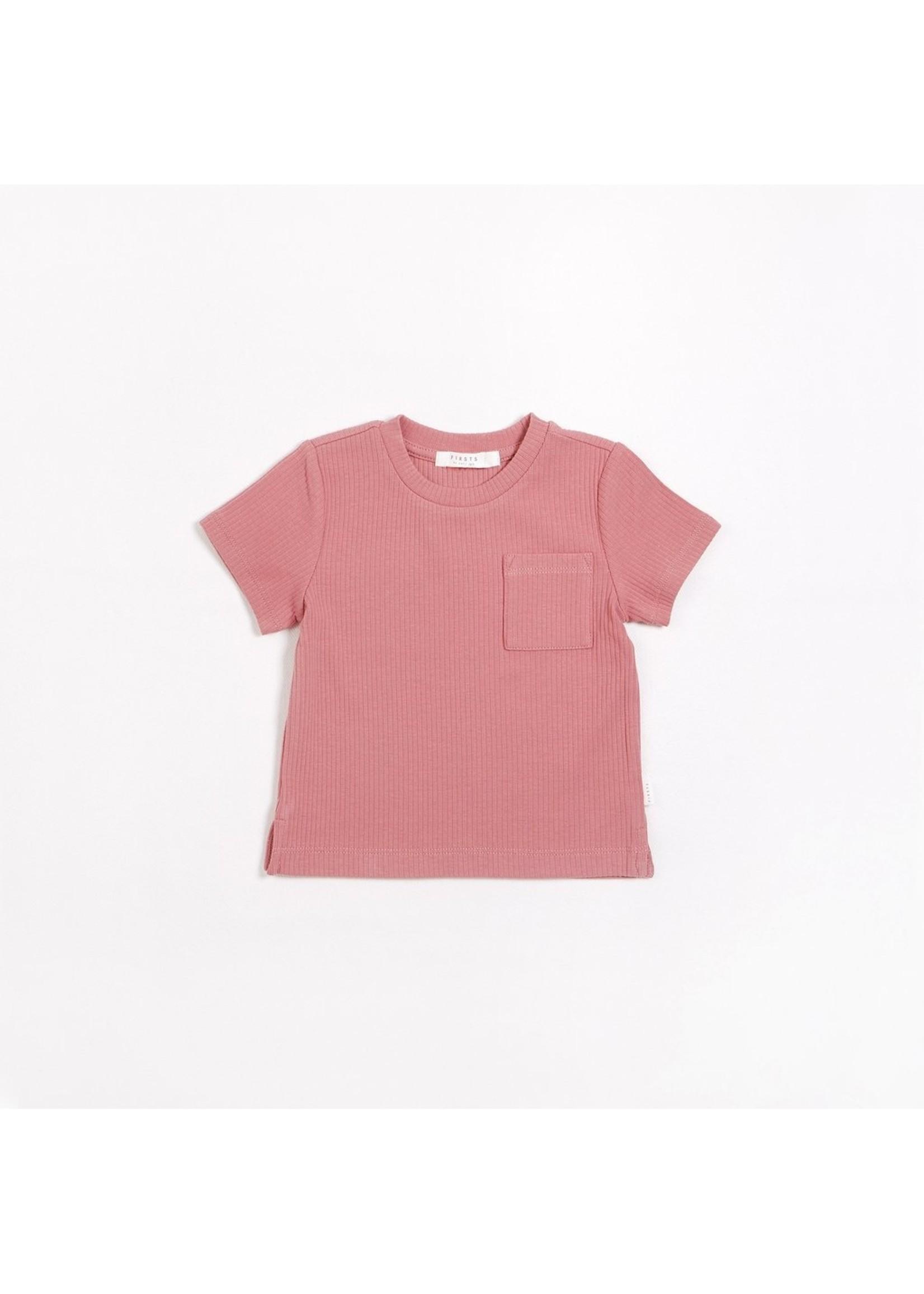 Petit Lem T-Shirt en tricot côtelé Pink