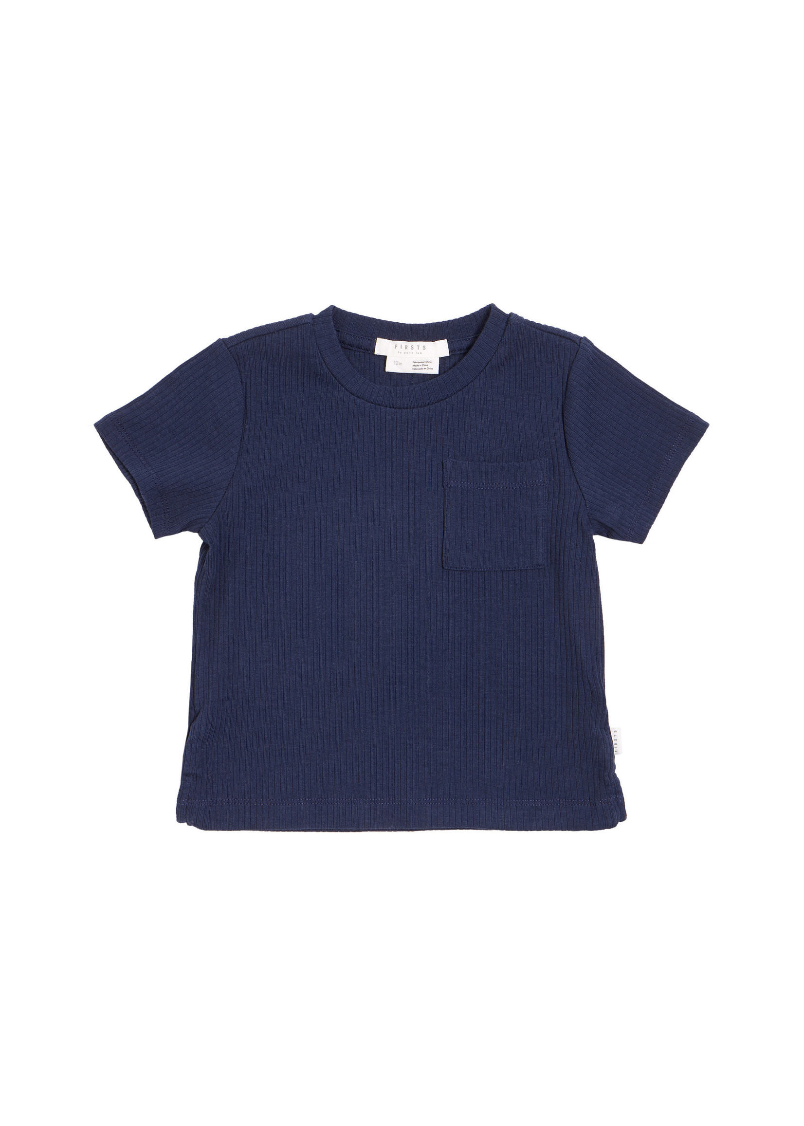 Petit Lem T-Shirt en tricot côtelé Navy