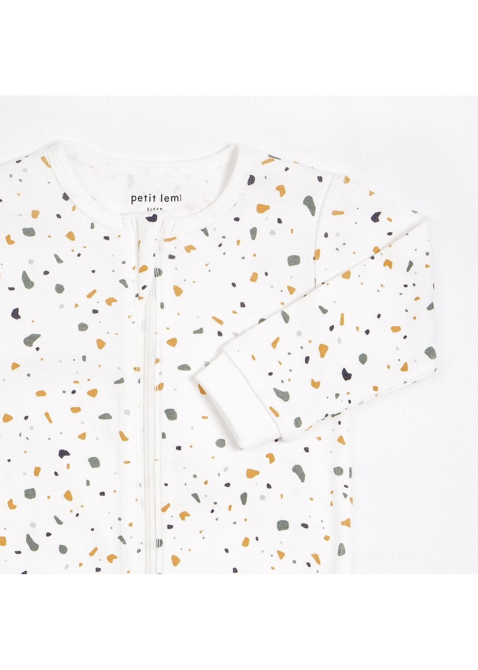 Petit Lem Pyjama une pièce Terrazzo  beige