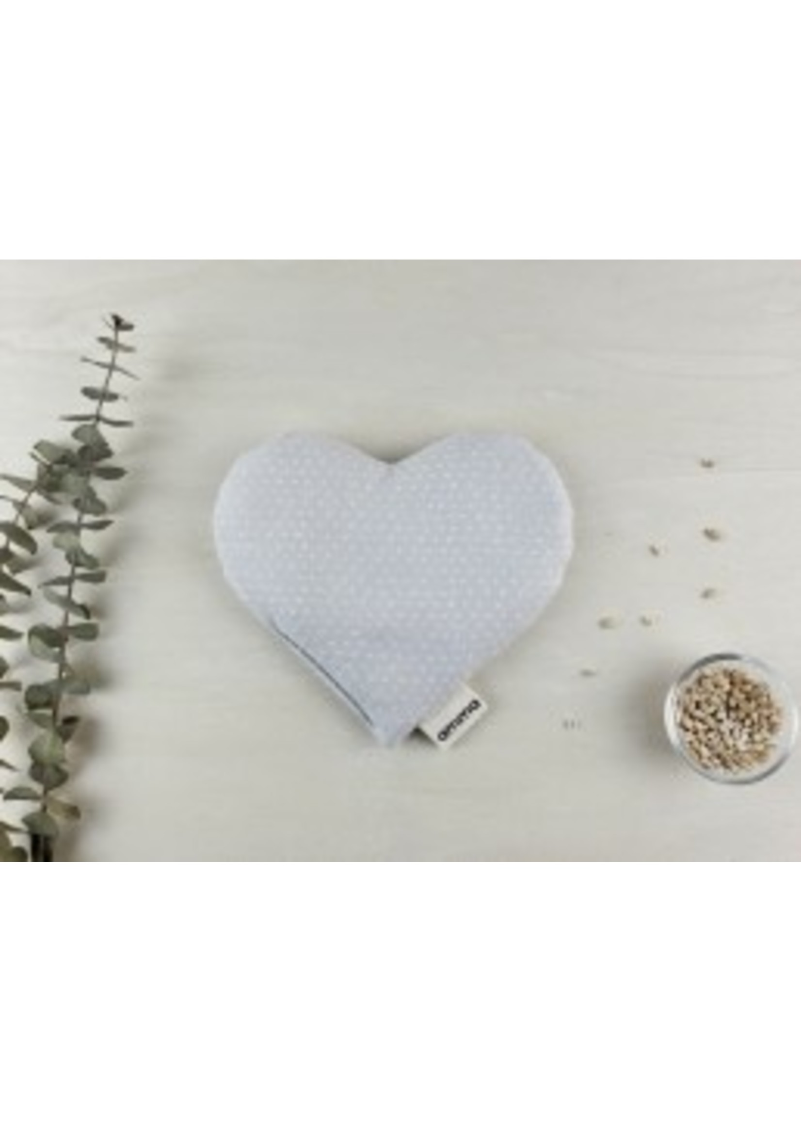 Amma Thérapie Coussin réconfort cœur -P'tits cœurs en gris
