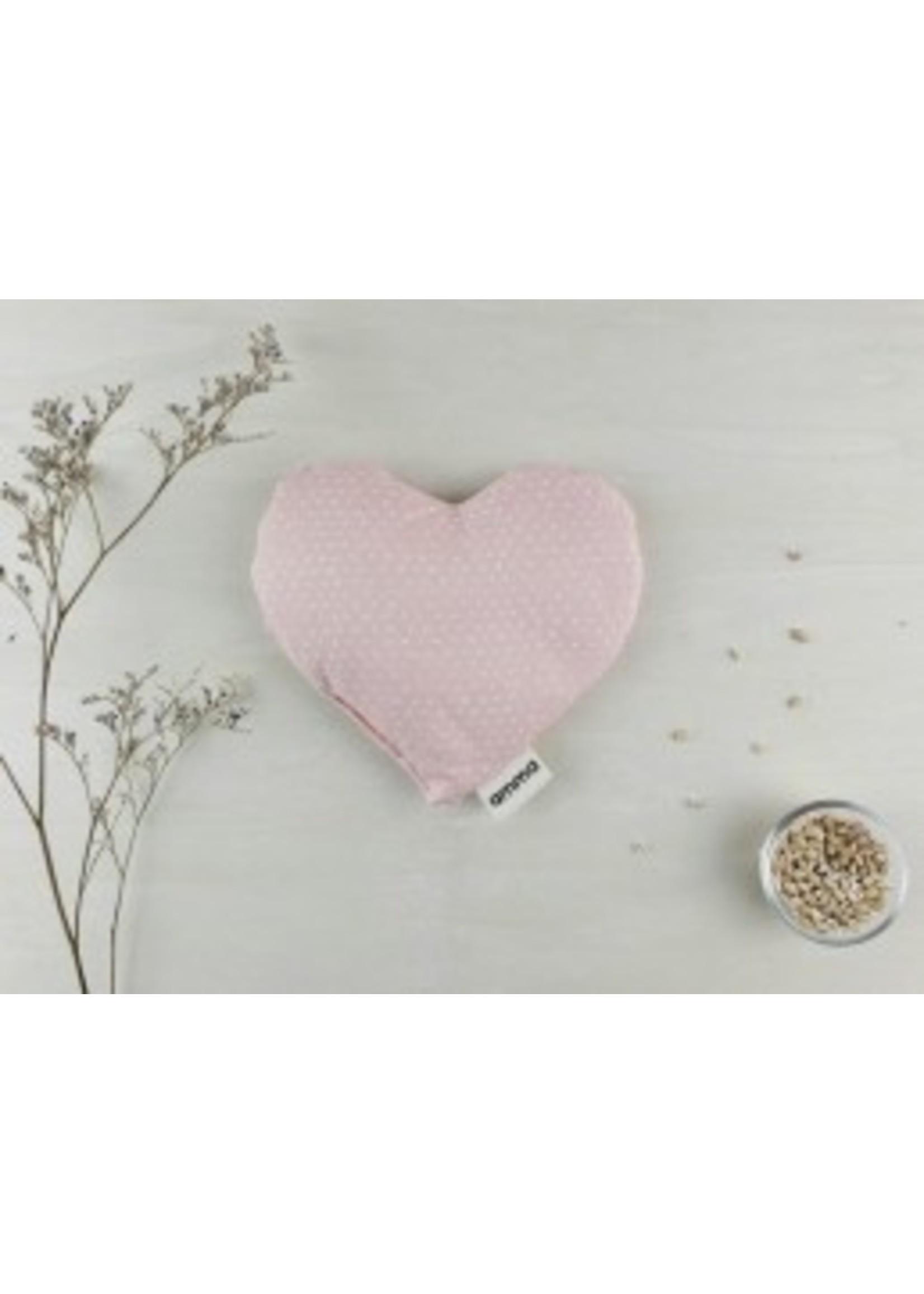 Amma Thérapie Coussin réconfort cœur -P'tits cœurs en rose