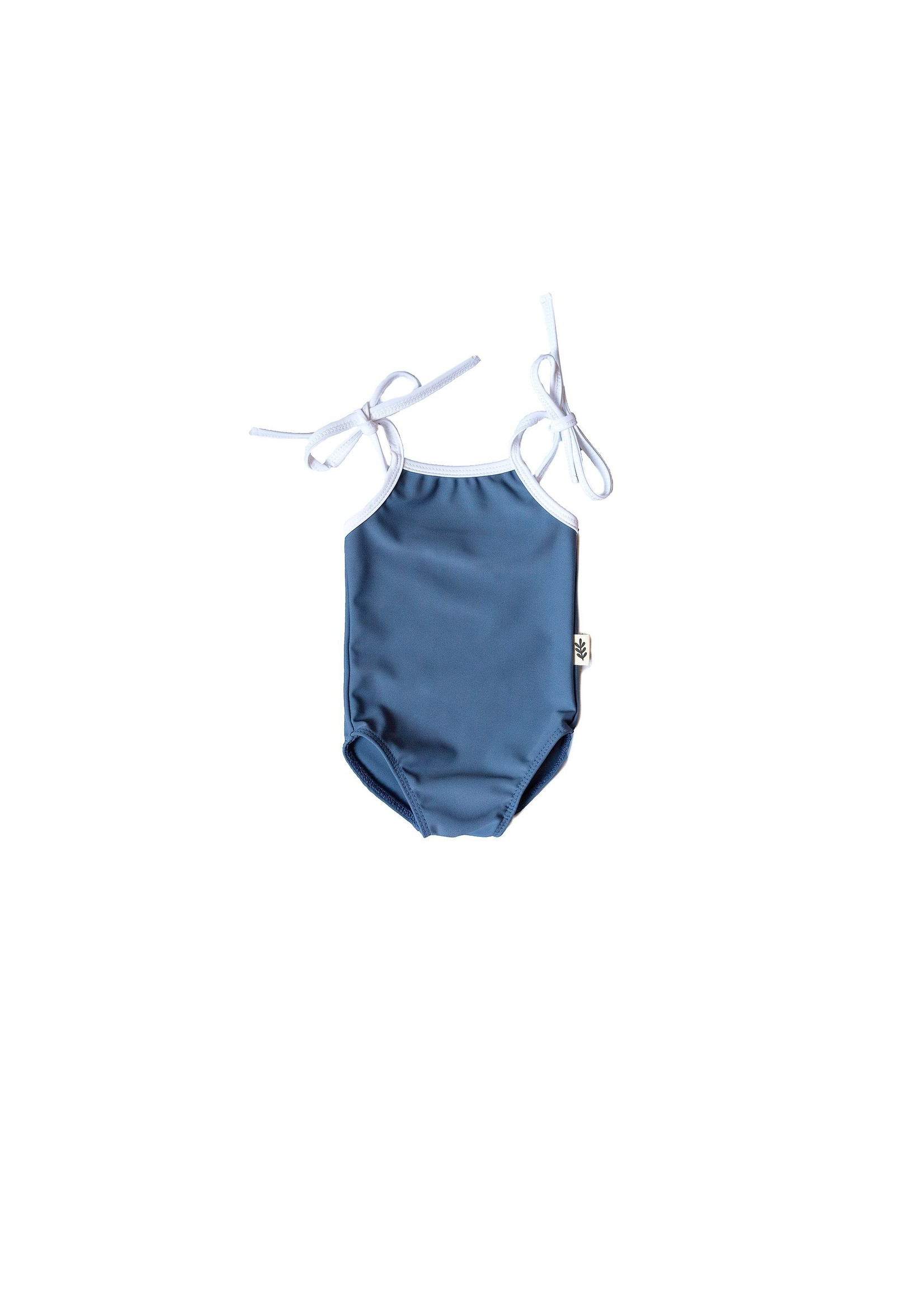 Les petites natures Maillot de bain une pièce à bretelles -Bleu côtier