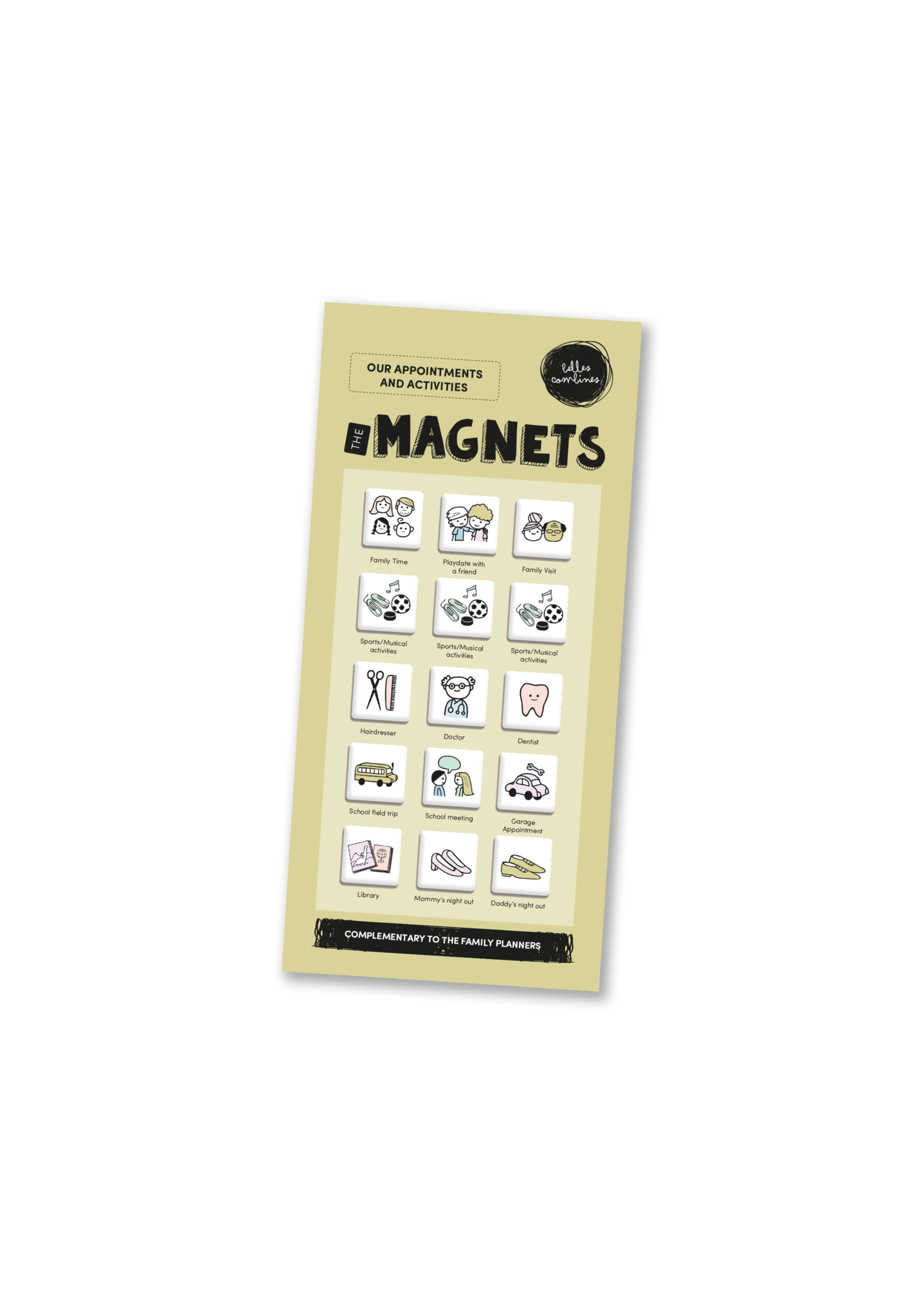 Les belles combines Magnets -Appointments and activities