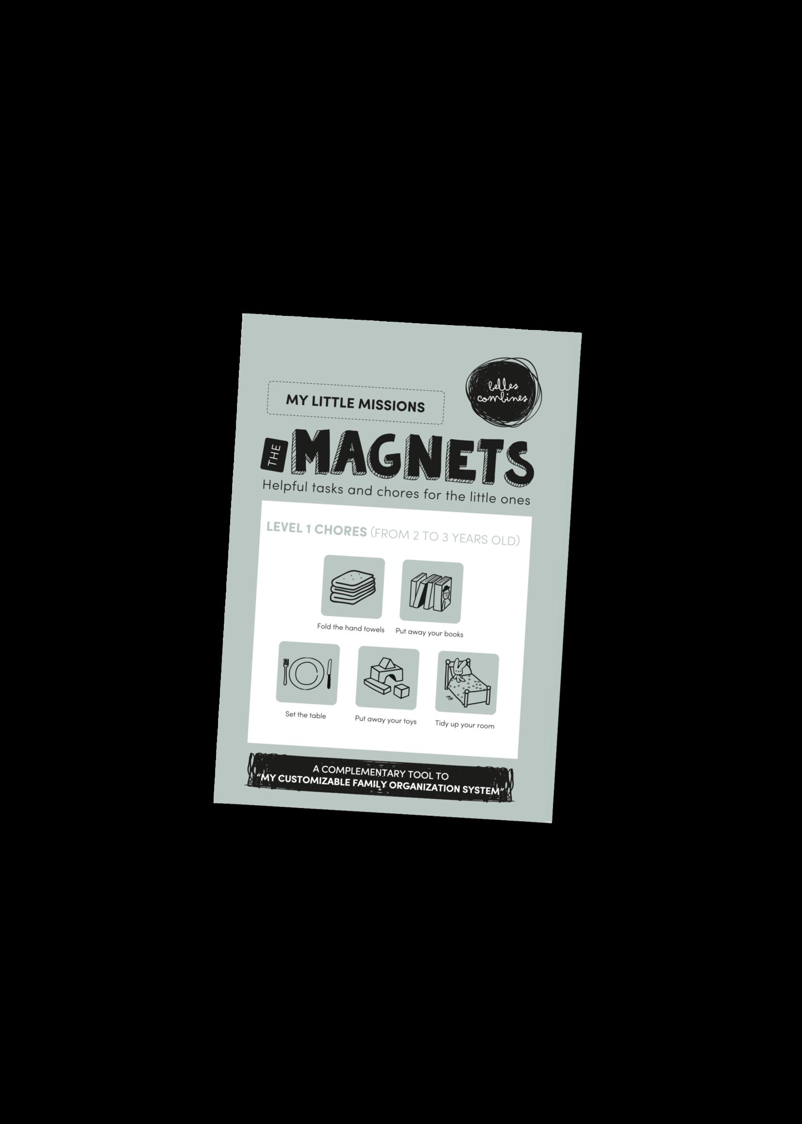 Les belles combines My little missions Magnets -Level 1