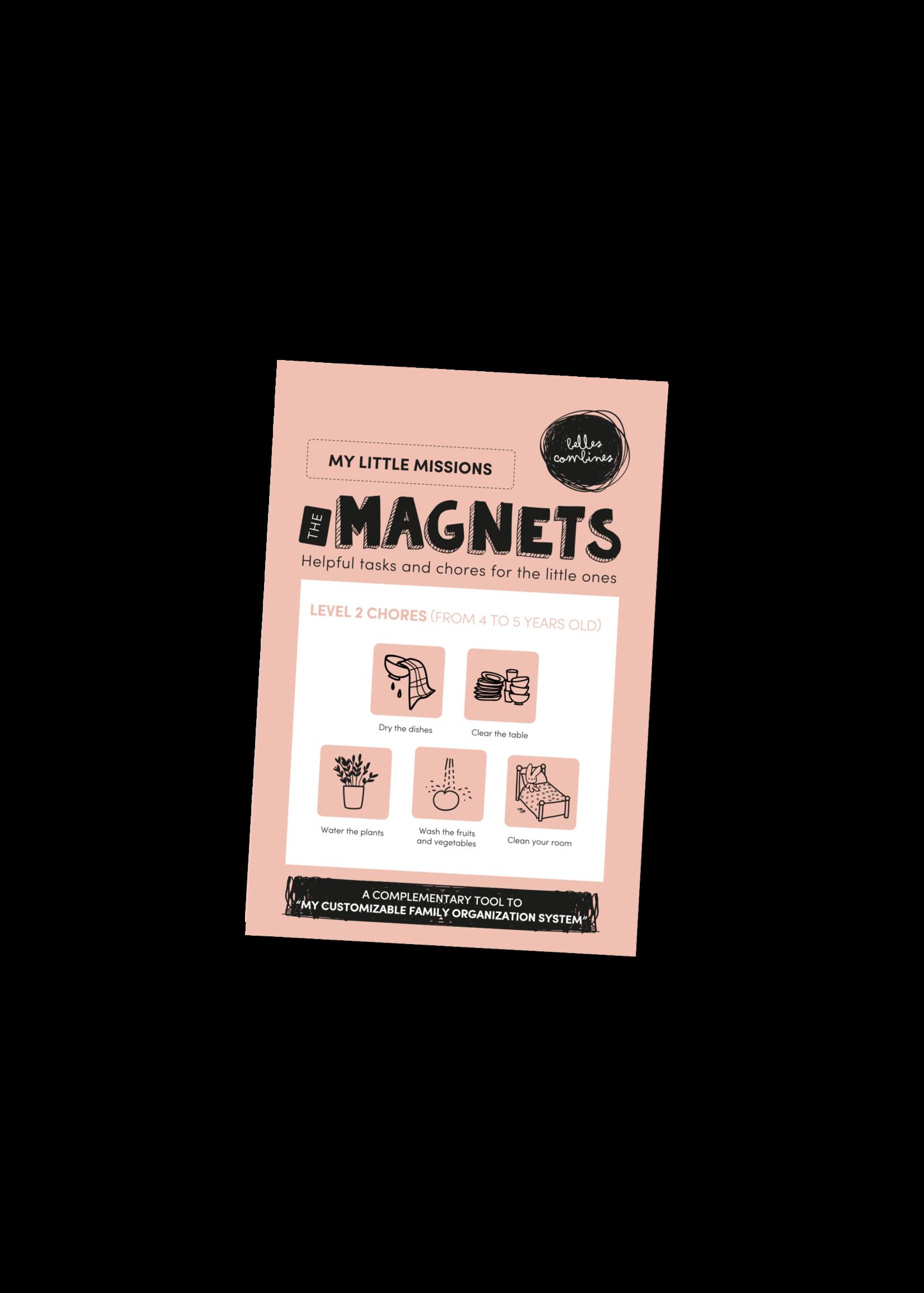 Les belles combines My little missions Magnets -Level 2