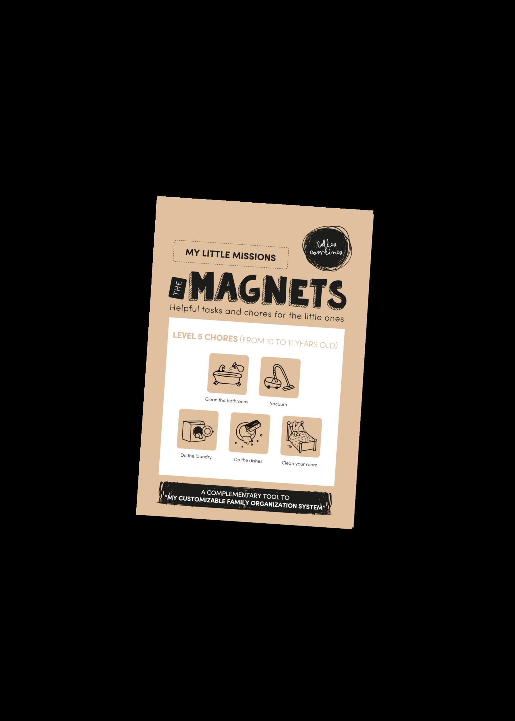 Les belles combines My little missions Magnets -Level 5