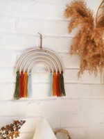 The Butter Flying Arc-en-ciel de bois style boho Earth Colors