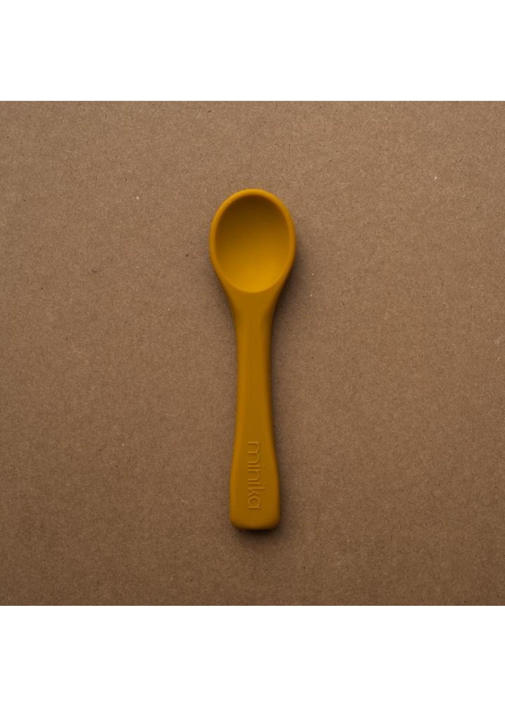 Minika Cuillère en silicone Ocre