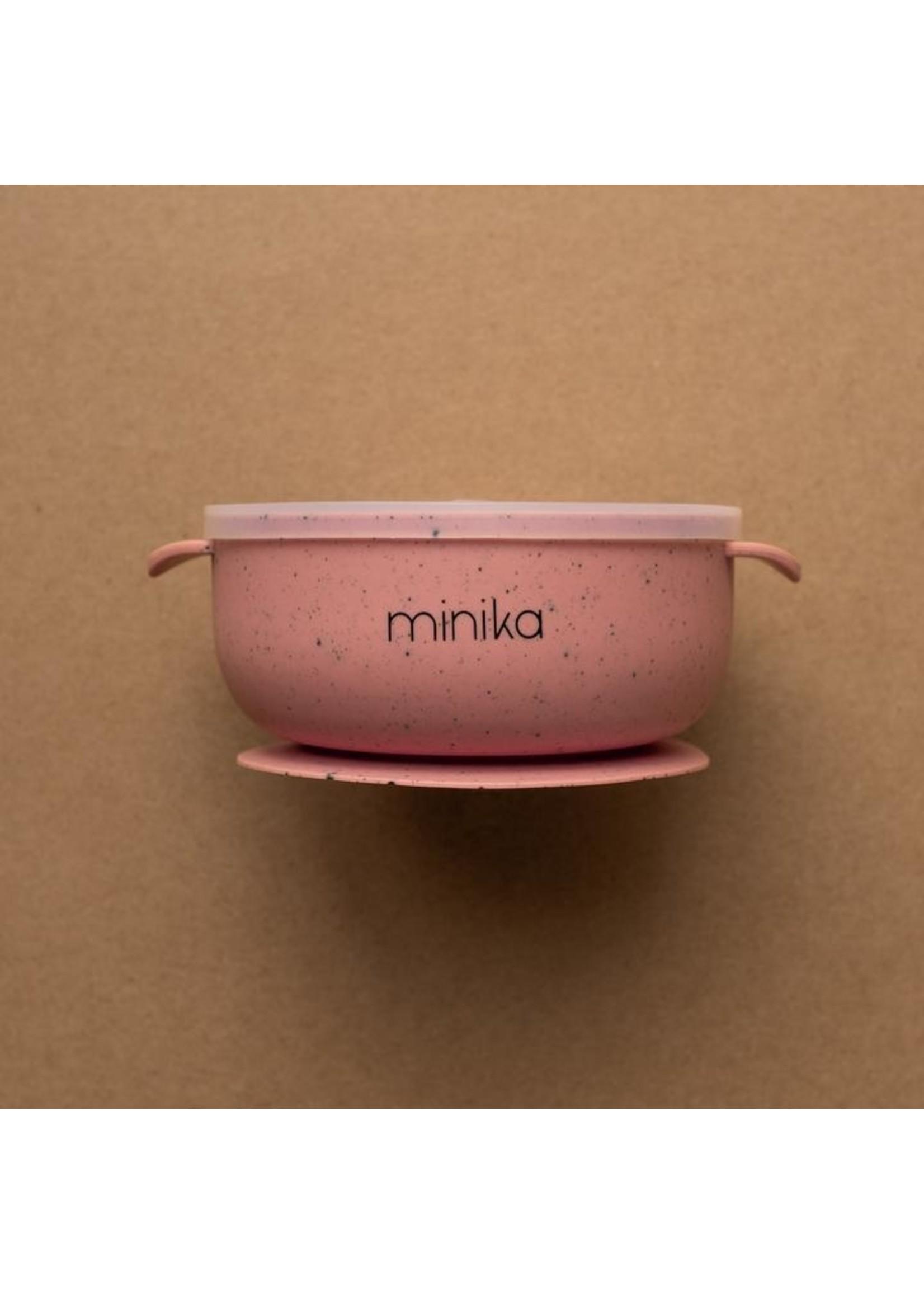 Minika Bol en silicone avec couvercle Sorbet