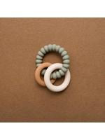 Minika Hochet silicone Naturel/Sage