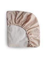 Mushie Drap contour de bassinette Natural Stripe