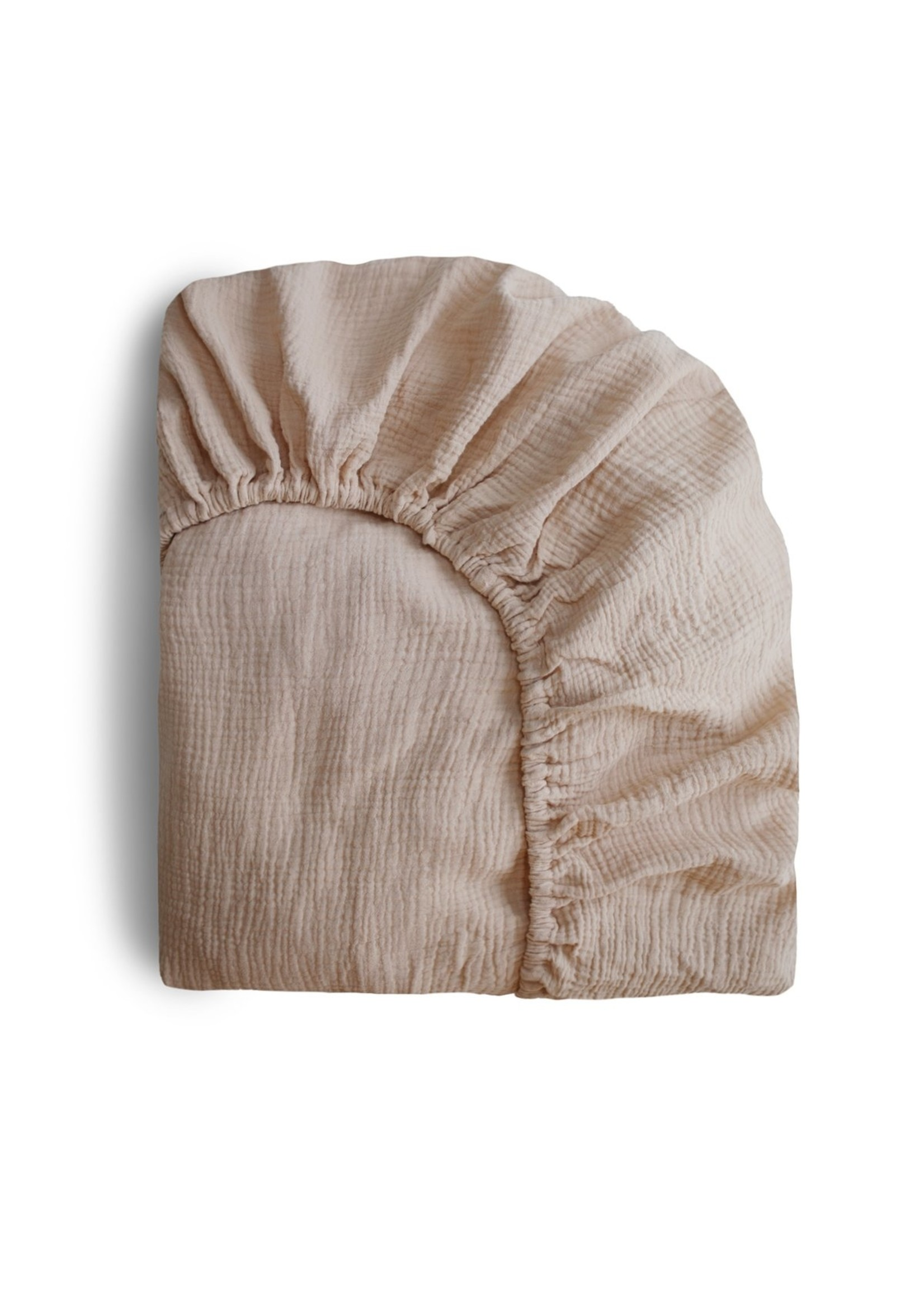 Mushie Drap contour de bassinette Natural