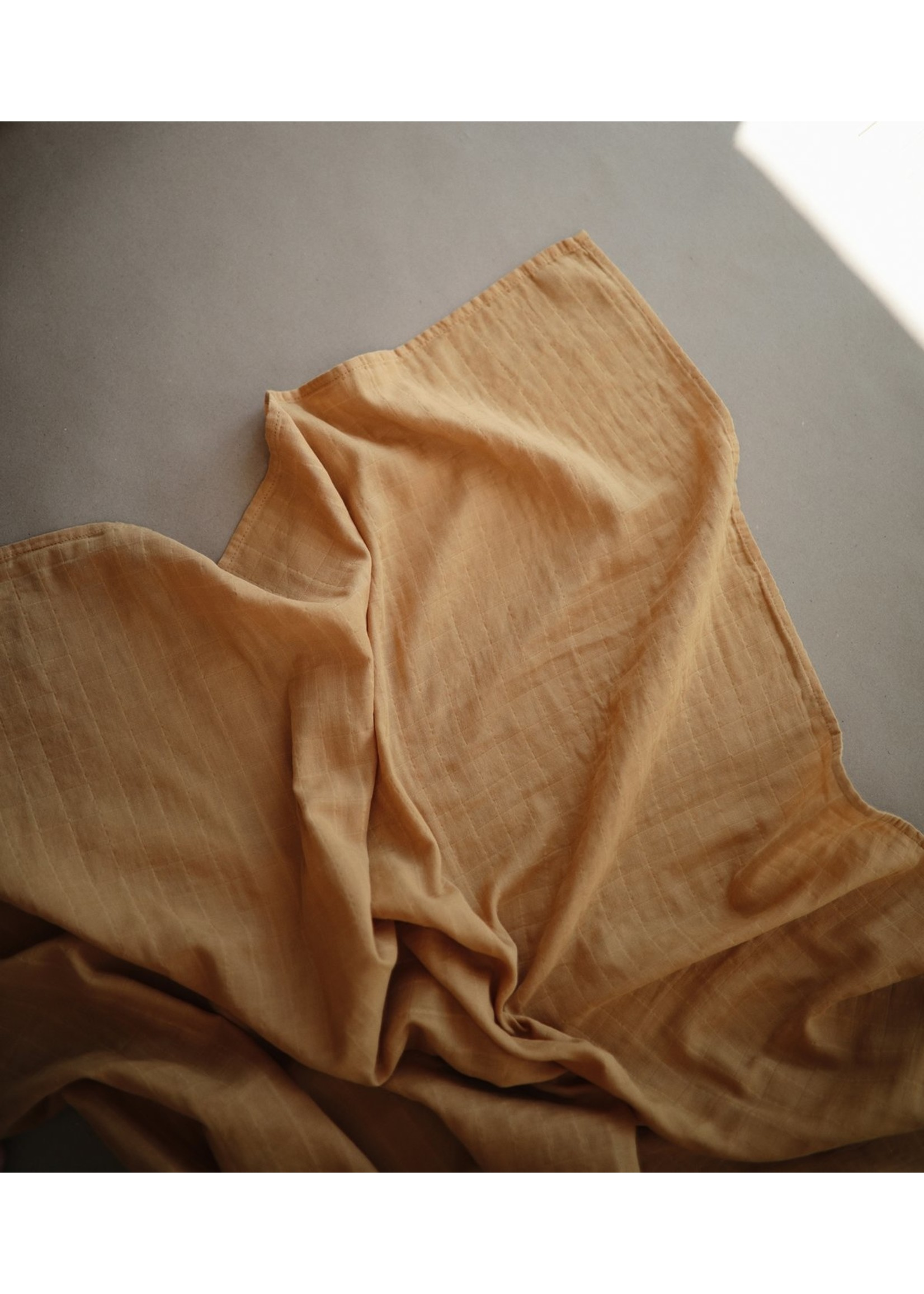 Mushie Couverture en mousseline Fall Yellow