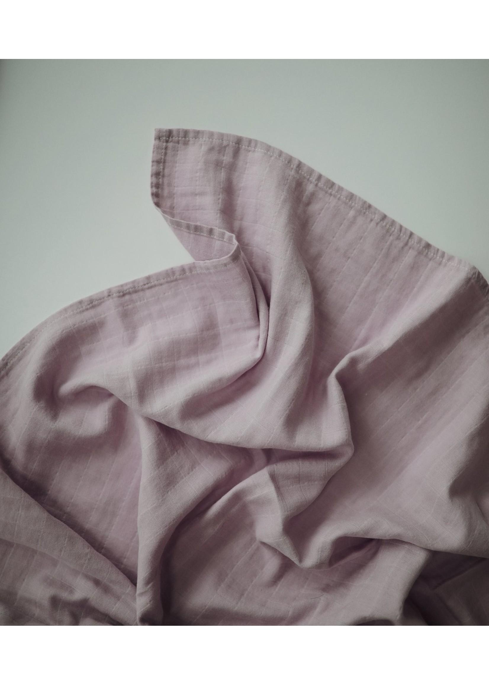 Mushie Couverture en mousseline Soft Mauve