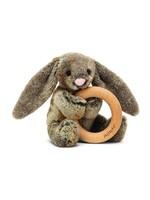 Jellycat Hochet avec anneau Lapin Woodland
