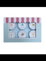 Dough Parlour Ensemble de pâte à modeler - 6 pots Pastels