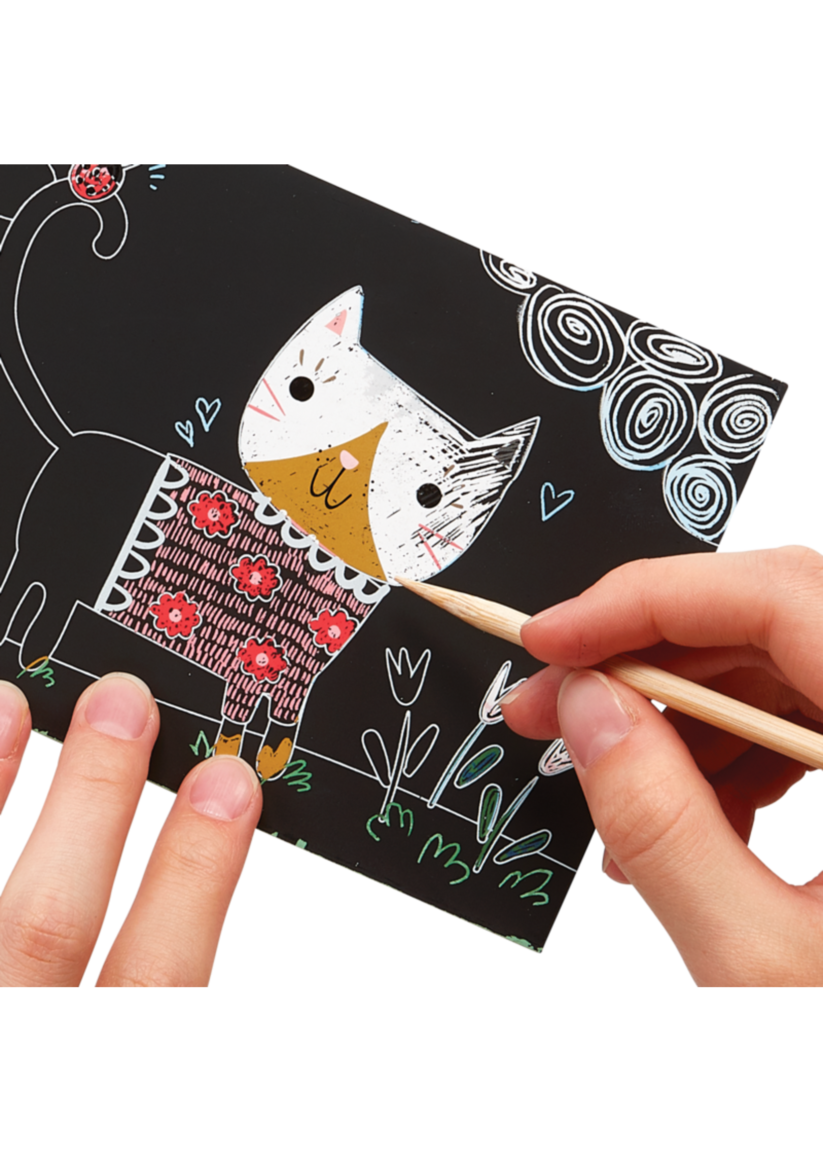 Ooly Mini Scratch & Scribble Cutie Cats