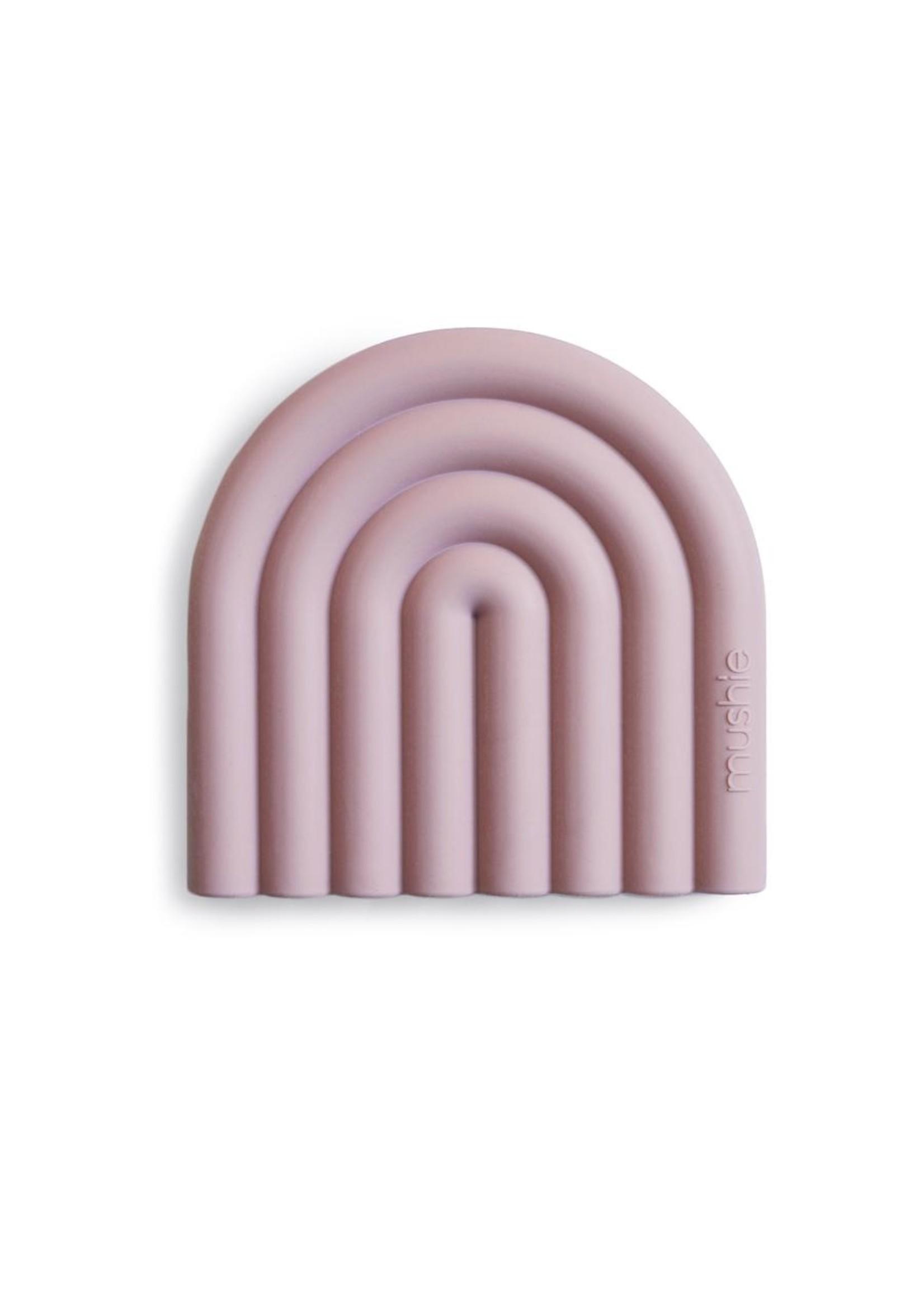 Mushie Arc en ciel de dentition Mauve