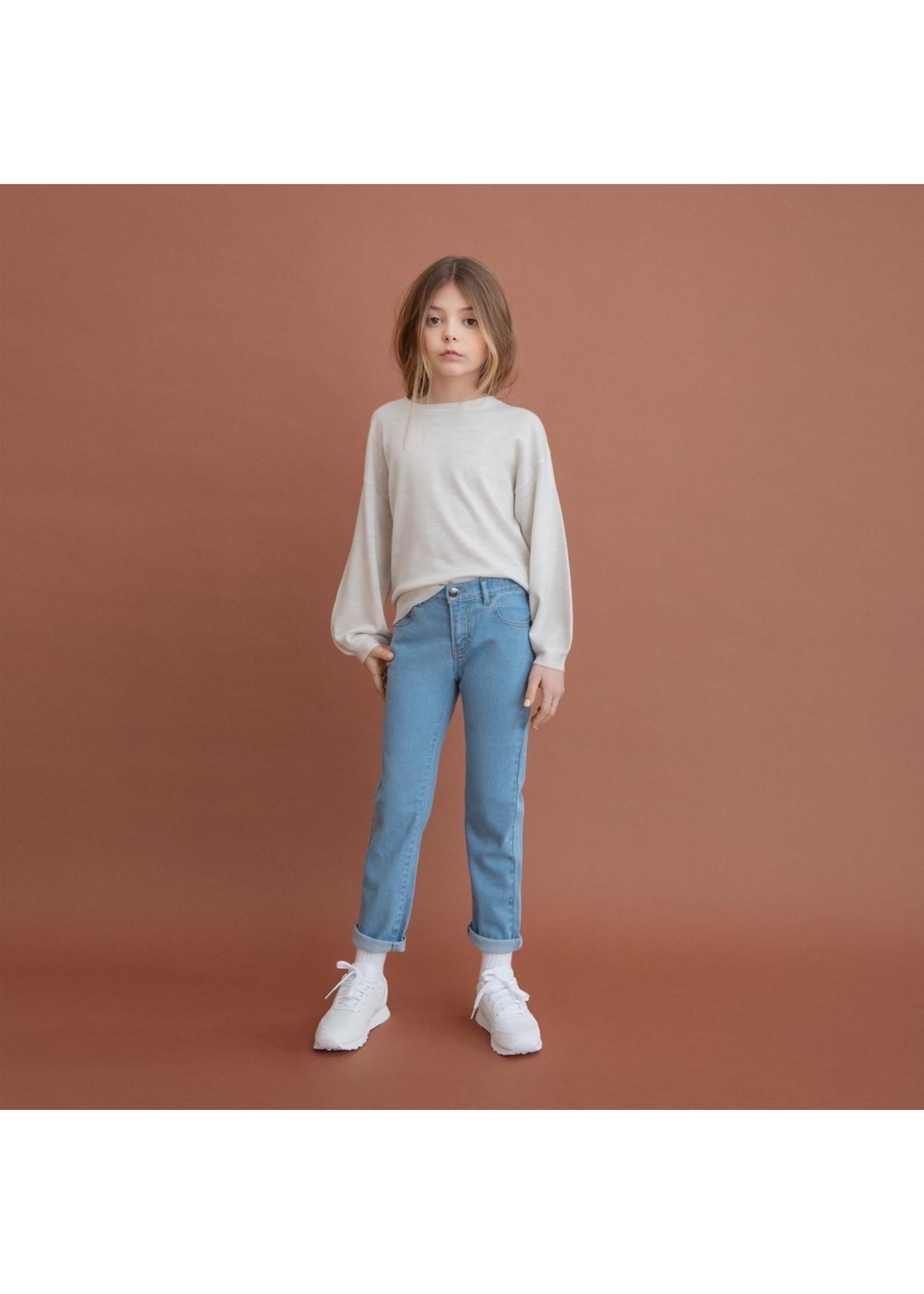 Miles Pantalon bleu clair en éco-denim  Coupe féminine