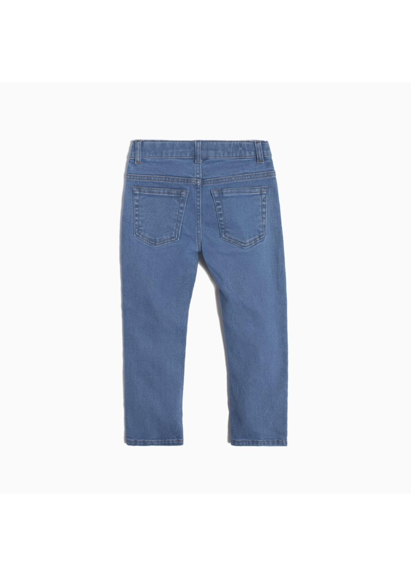 Miles Pantalon bleu clair en éco-denim Coupe Garçon