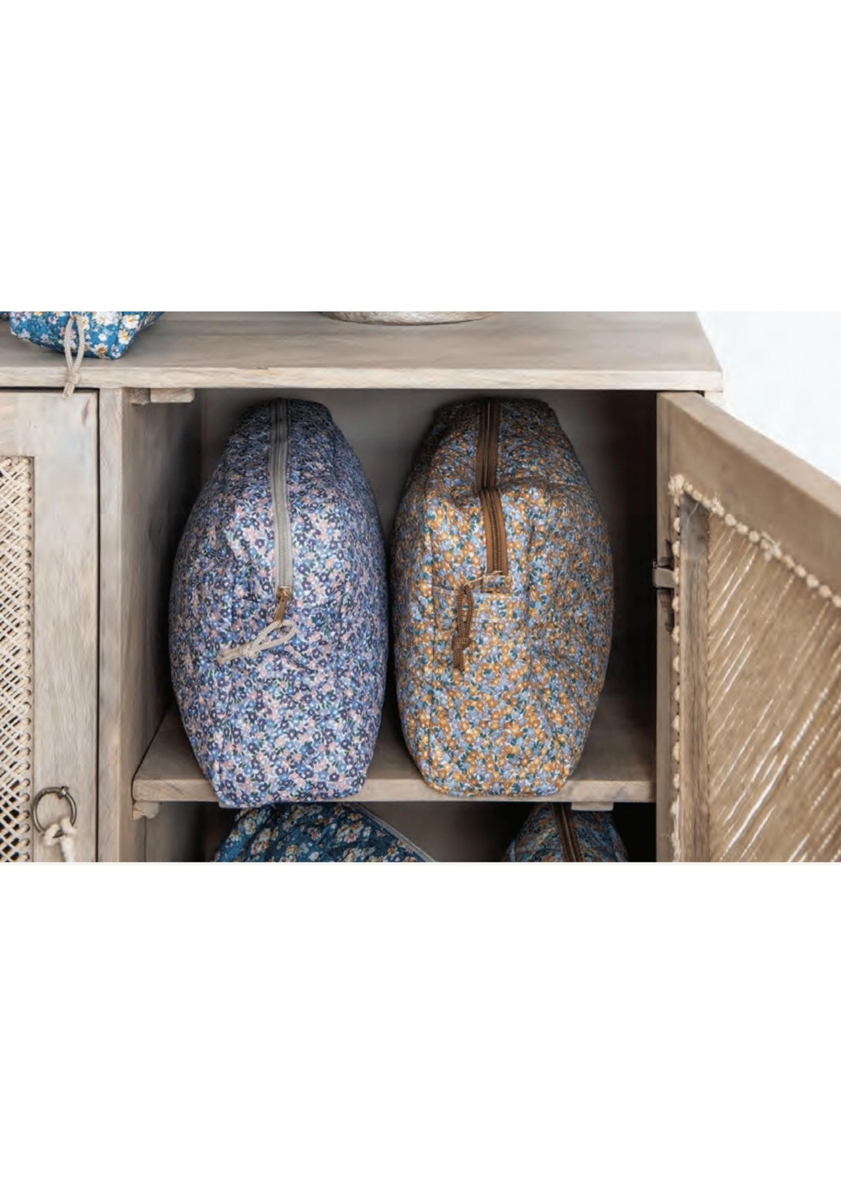 Creative Coop Grande Trousse en tissus Fleuris