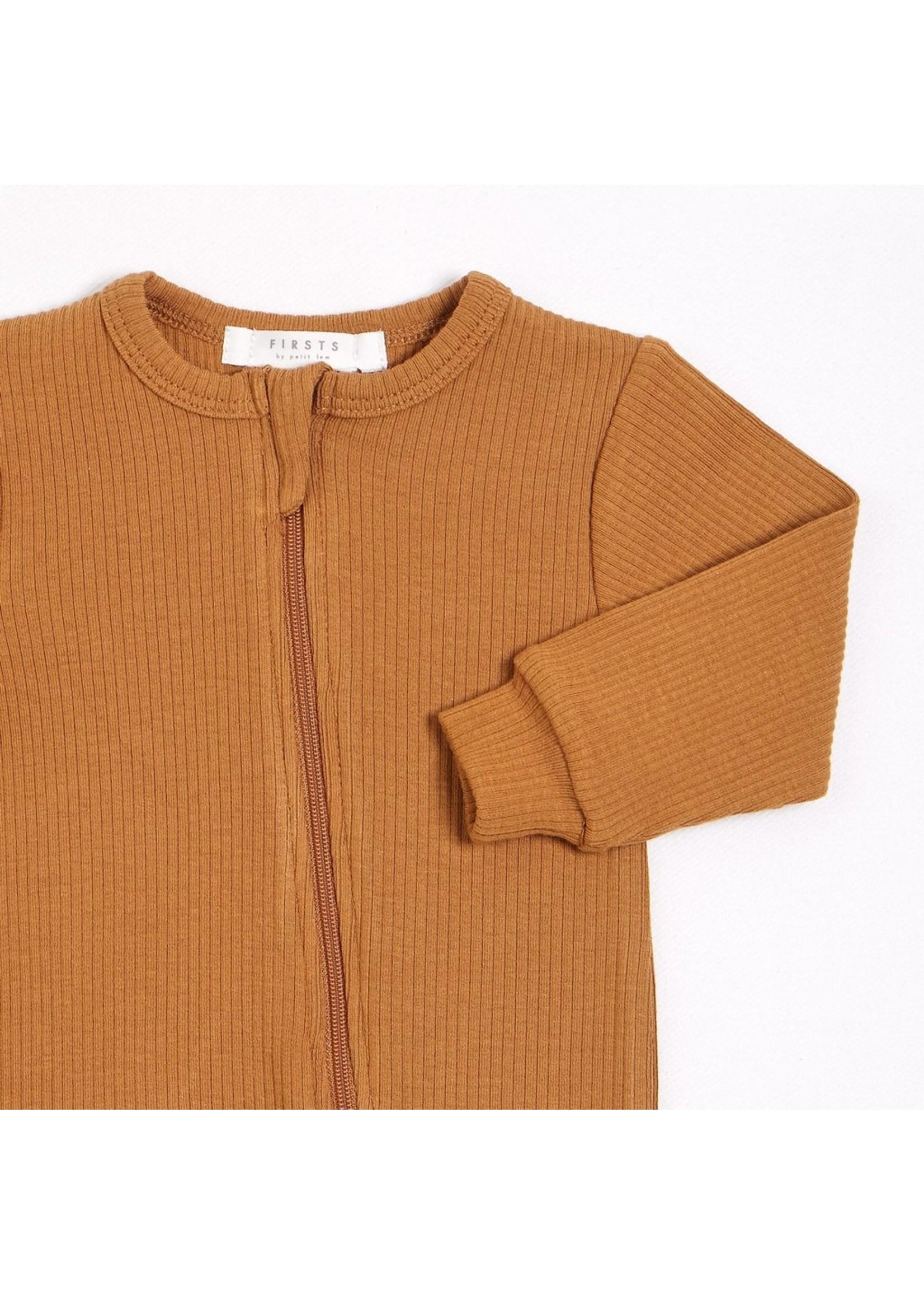 Petit Lem Romper en tricot côtelé Blé