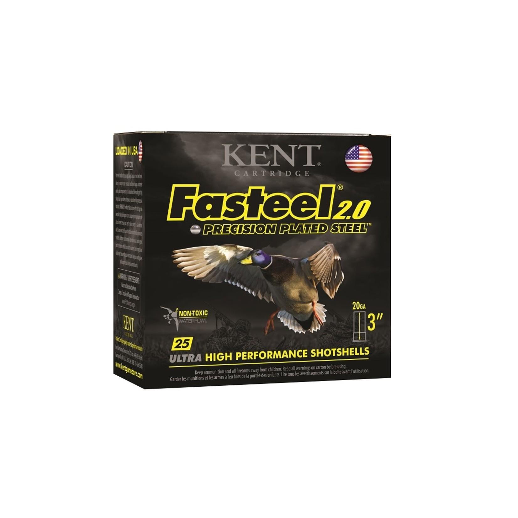 Kent Cartridge Fasteel 2.0, 20Ga, 3'', 7/8Oz, 1550Fps - 3