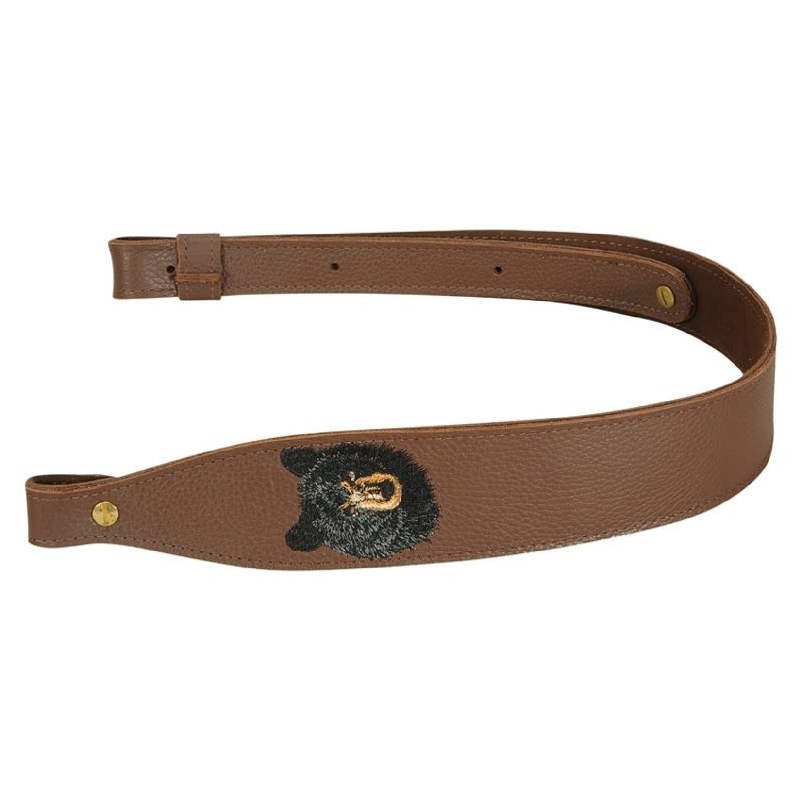 Levy's Levy's Sling - Brown Garment Leather Rifle Sling – SNG20EB-BRN