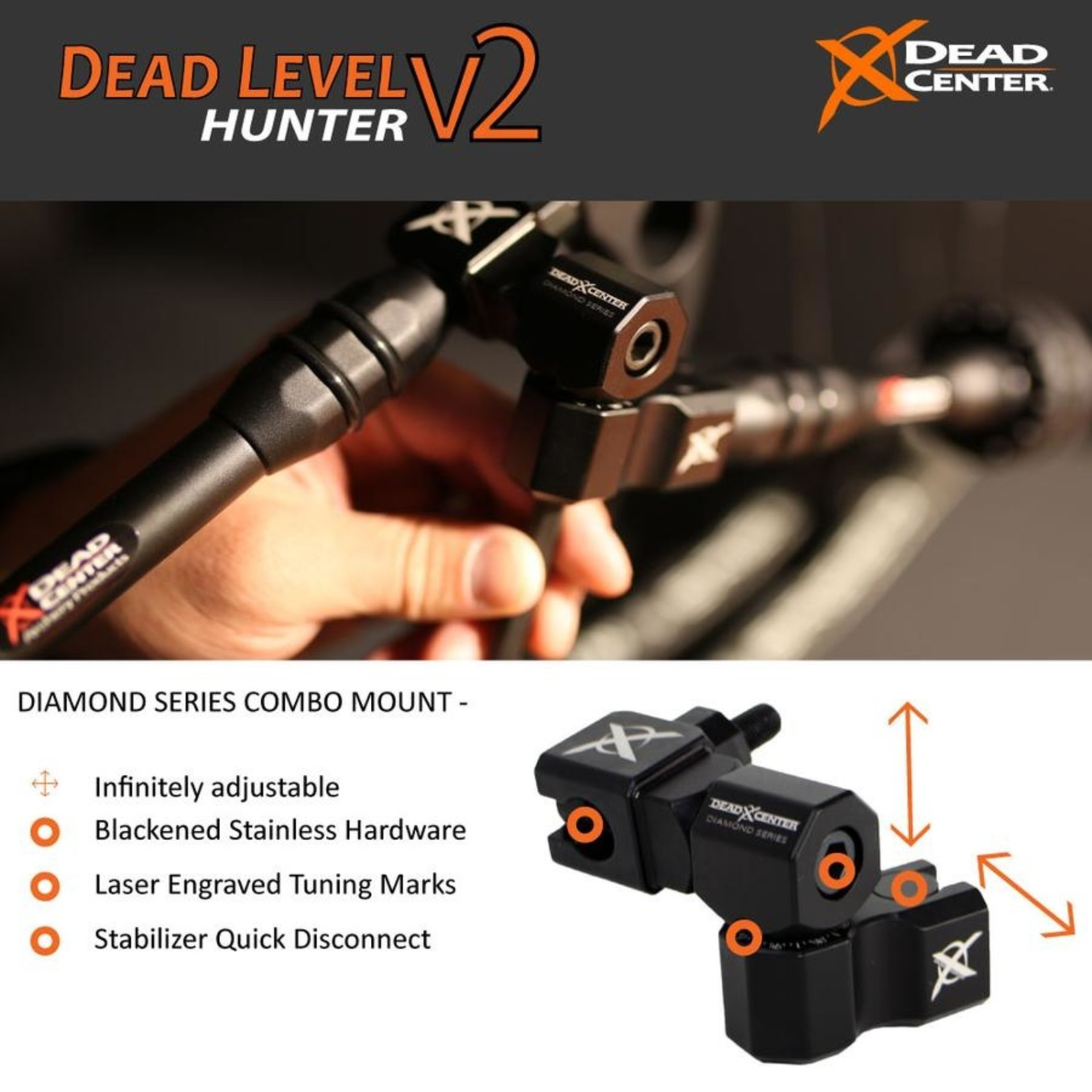 Dead Center Dead Level Hunter V2 - 10'' & 8'' -  Black