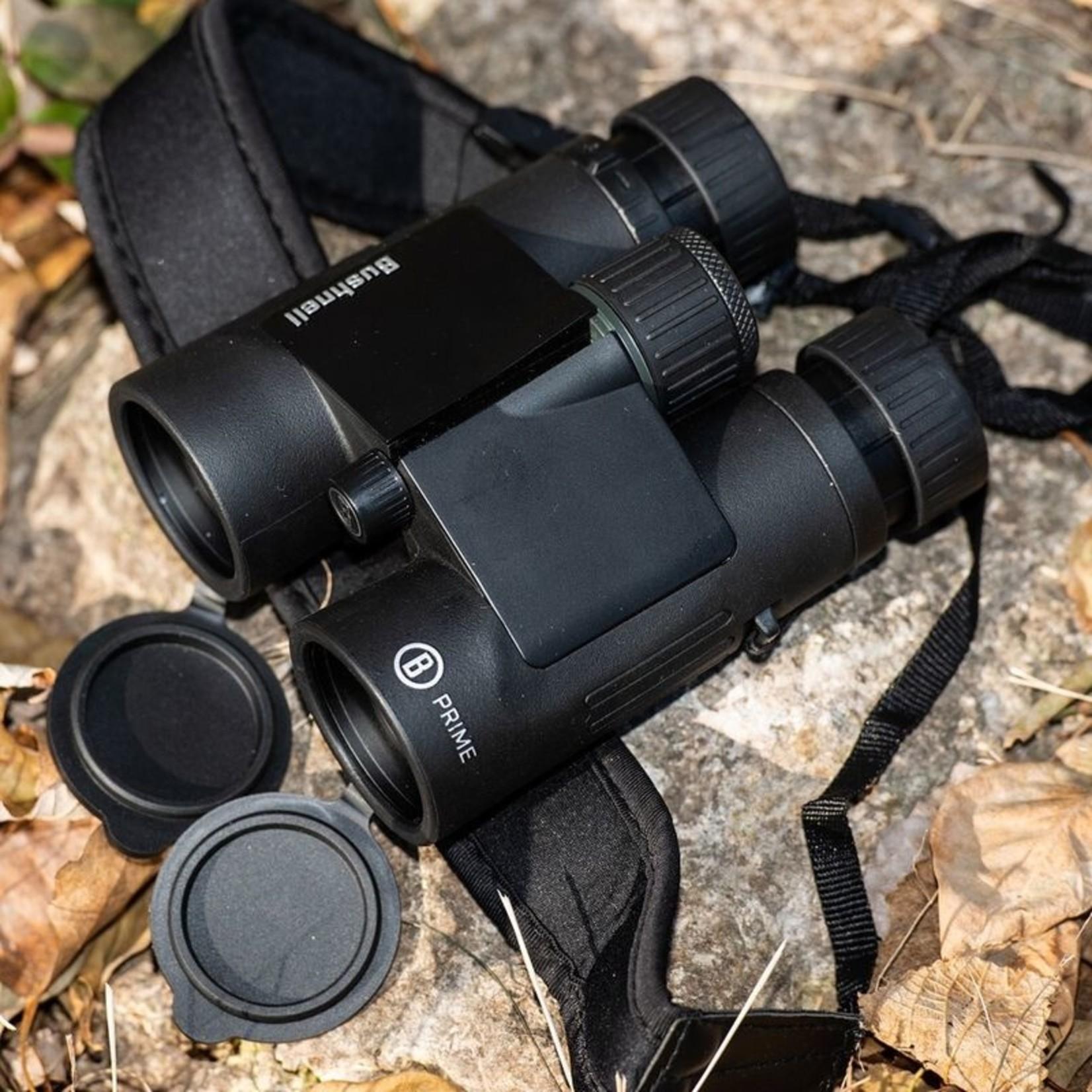 Bushnell Binoculars 8x42 Black Roof Prism FMC, WP/FP, Twist-up Eyecups