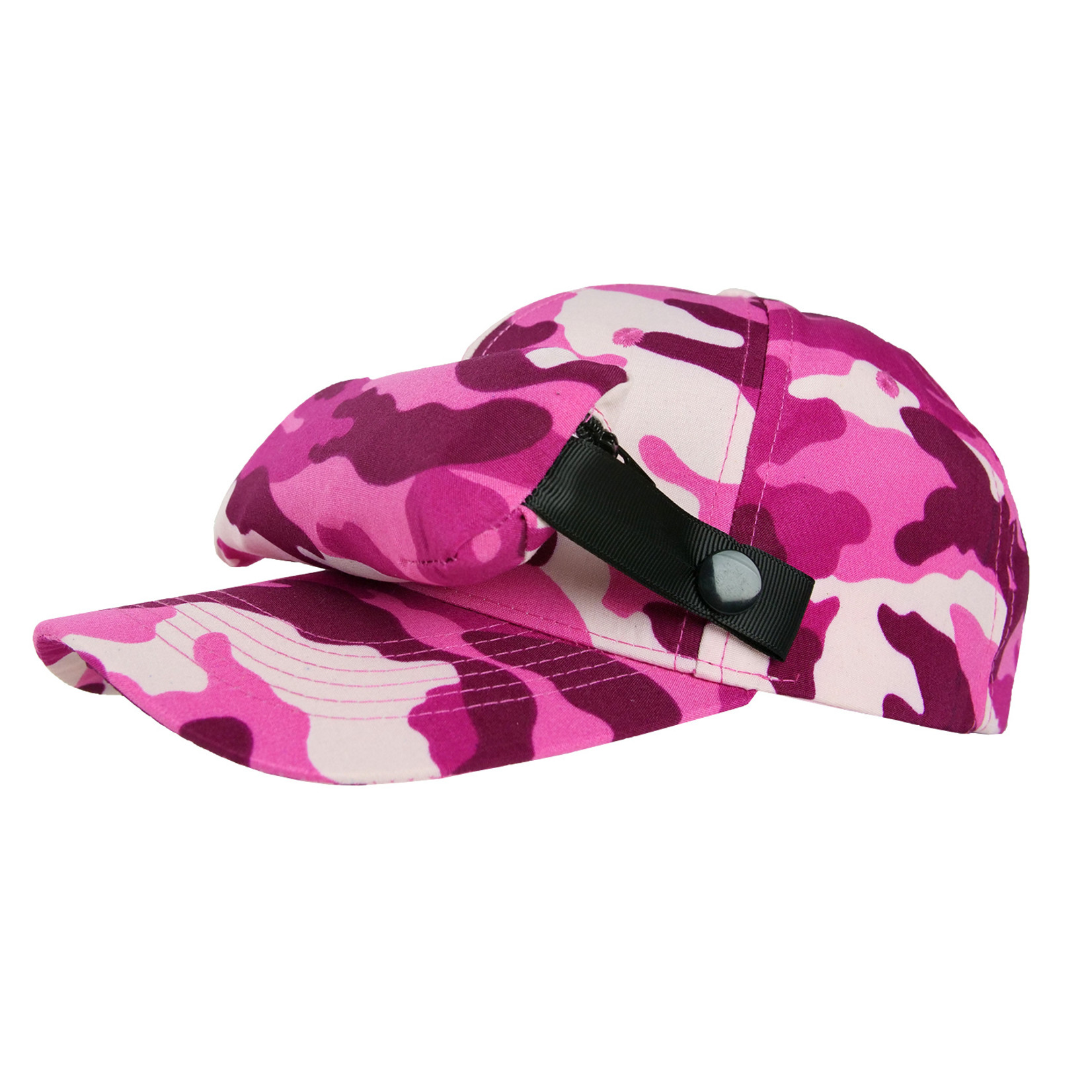 LittleFly BUG CAP pink camo - once size