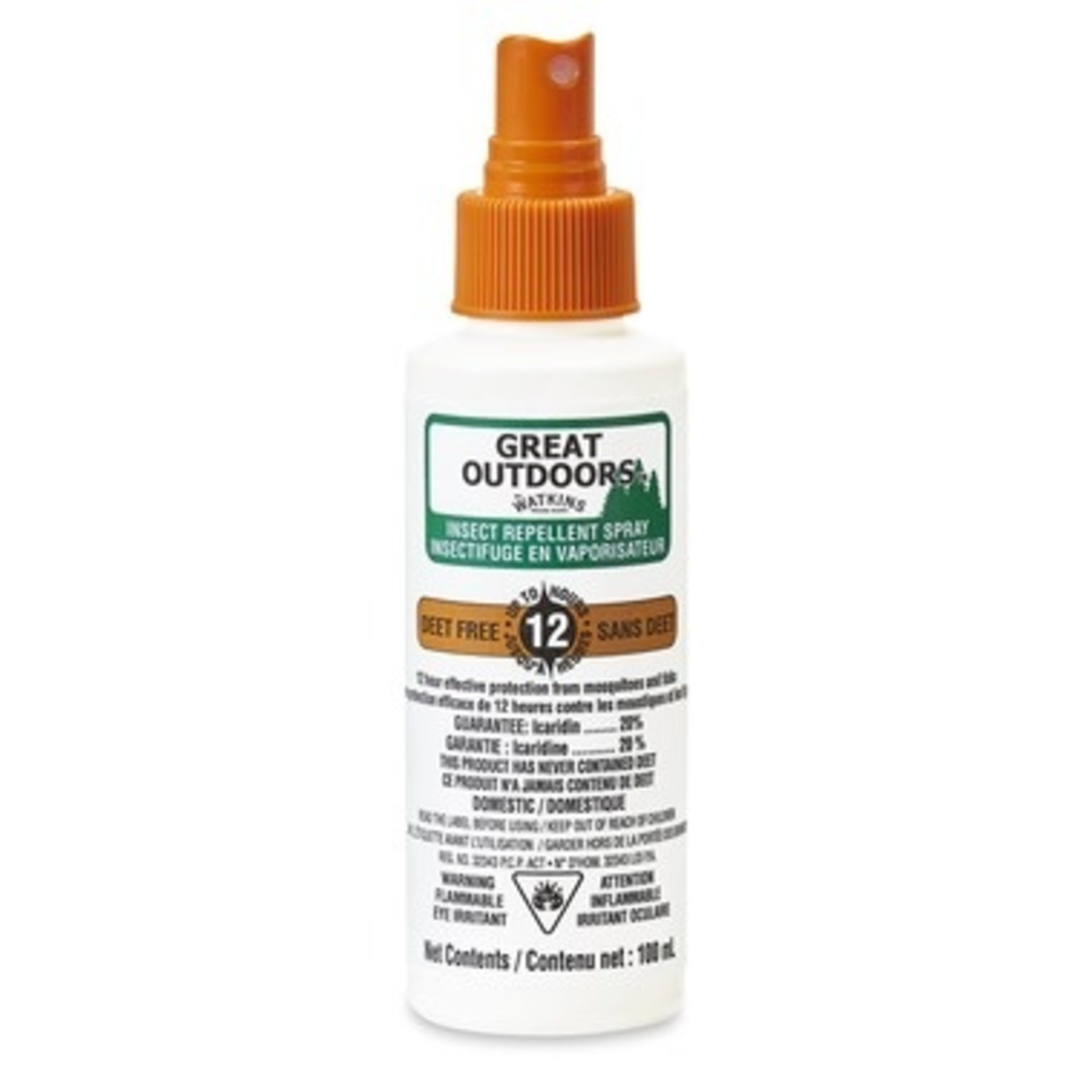 Great Outdoors Watkins Insect Repellent WATKINS GREAT OUTDOORS VAPO ICARIDINE 20% 100ML