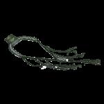 Recall Designs lanyard (flat-braid) black-white