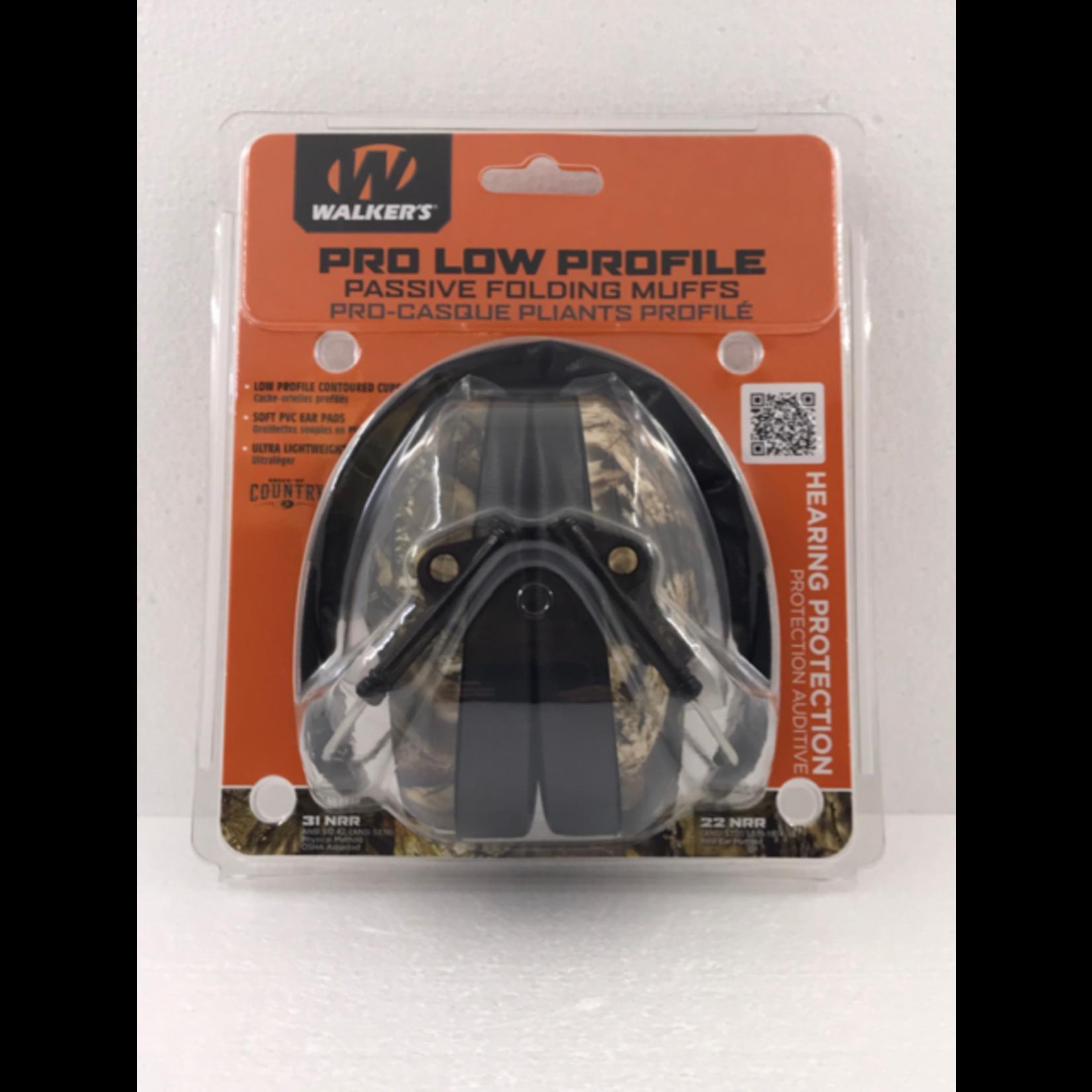 Walker Pro Low Profile Passive Folding Muffs